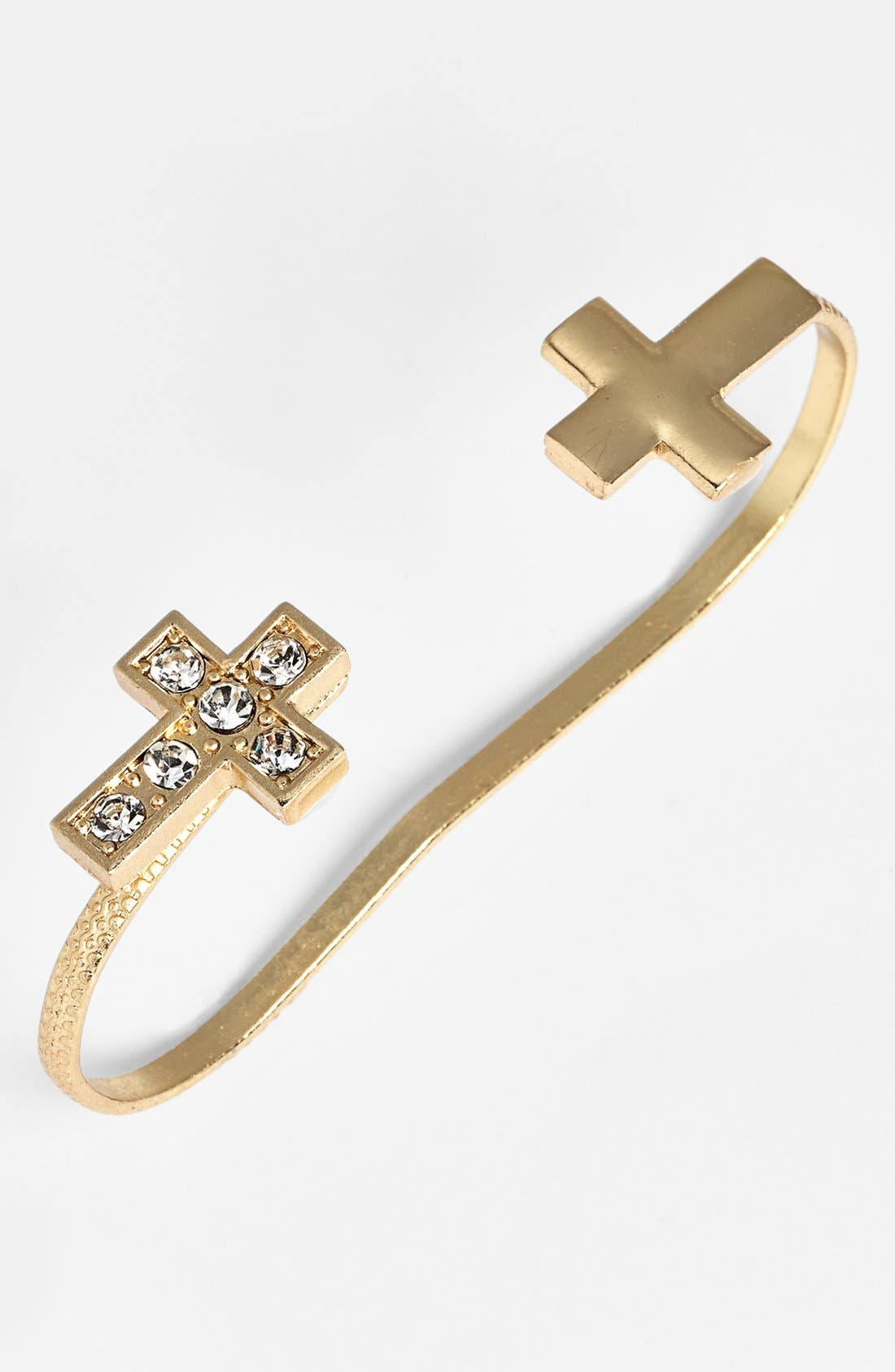 Alternate Image 1 Selected - Stephan & Co. 'Cross' Palm Cuff (Juniors) (Online Only)