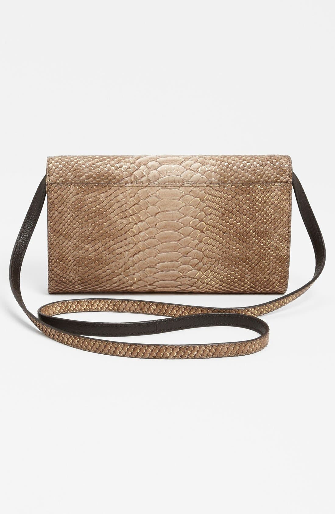 Alternate Image 4  - Michael Kors 'Gia' Python Embossed Clutch