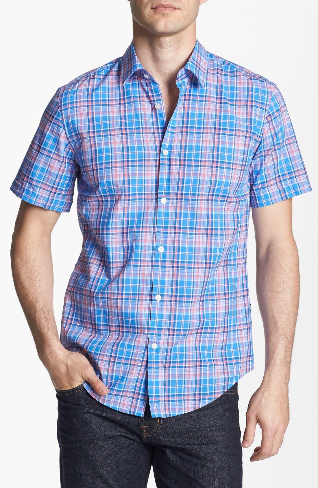 Main Image - BOSS HUGO BOSS 'Marc' Slim Fit Short Sleeve Sport Shirt