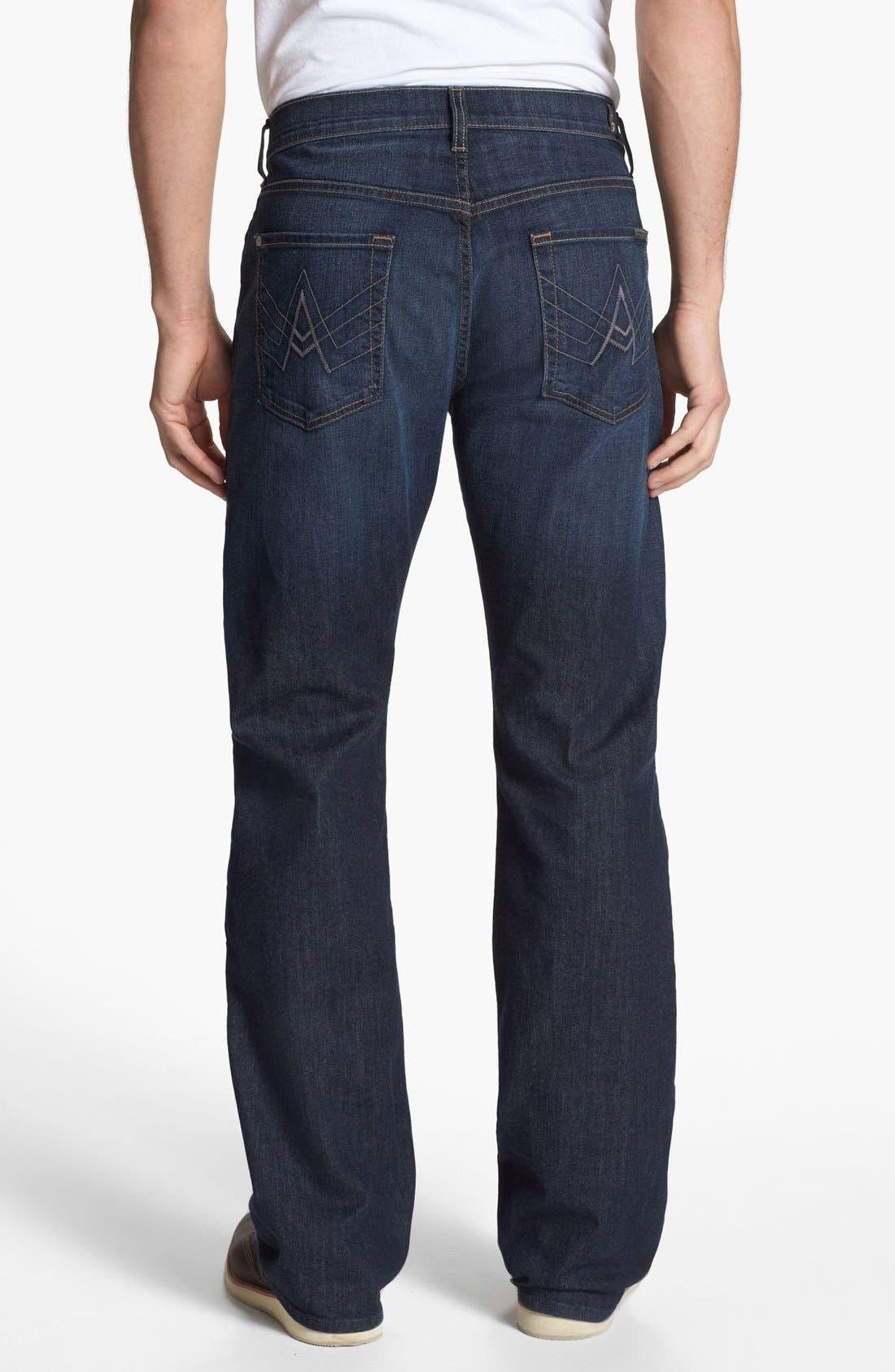 Alternate Image 1 Selected - 7 For All Mankind® 'Brett' Bootcut Jeans (Worn Hawthorne)