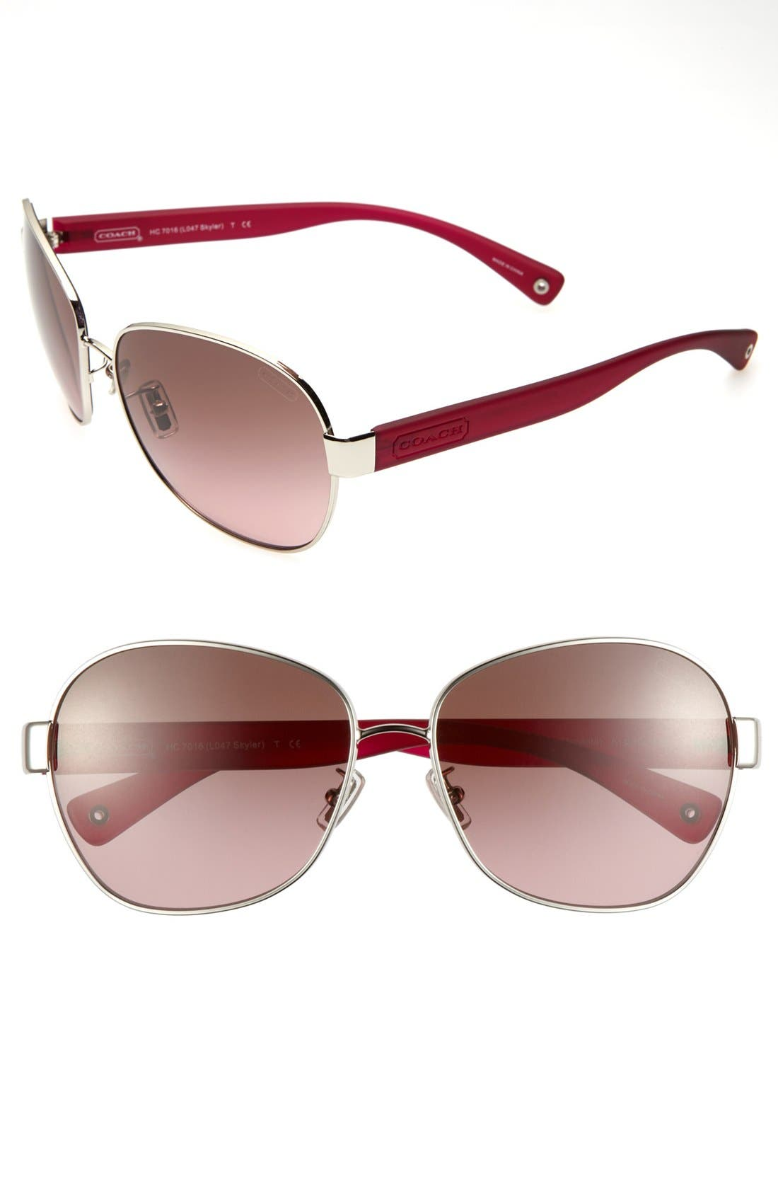 Alternate Image 1 Selected - COACH 'Skyler' 61mm Sunglasses