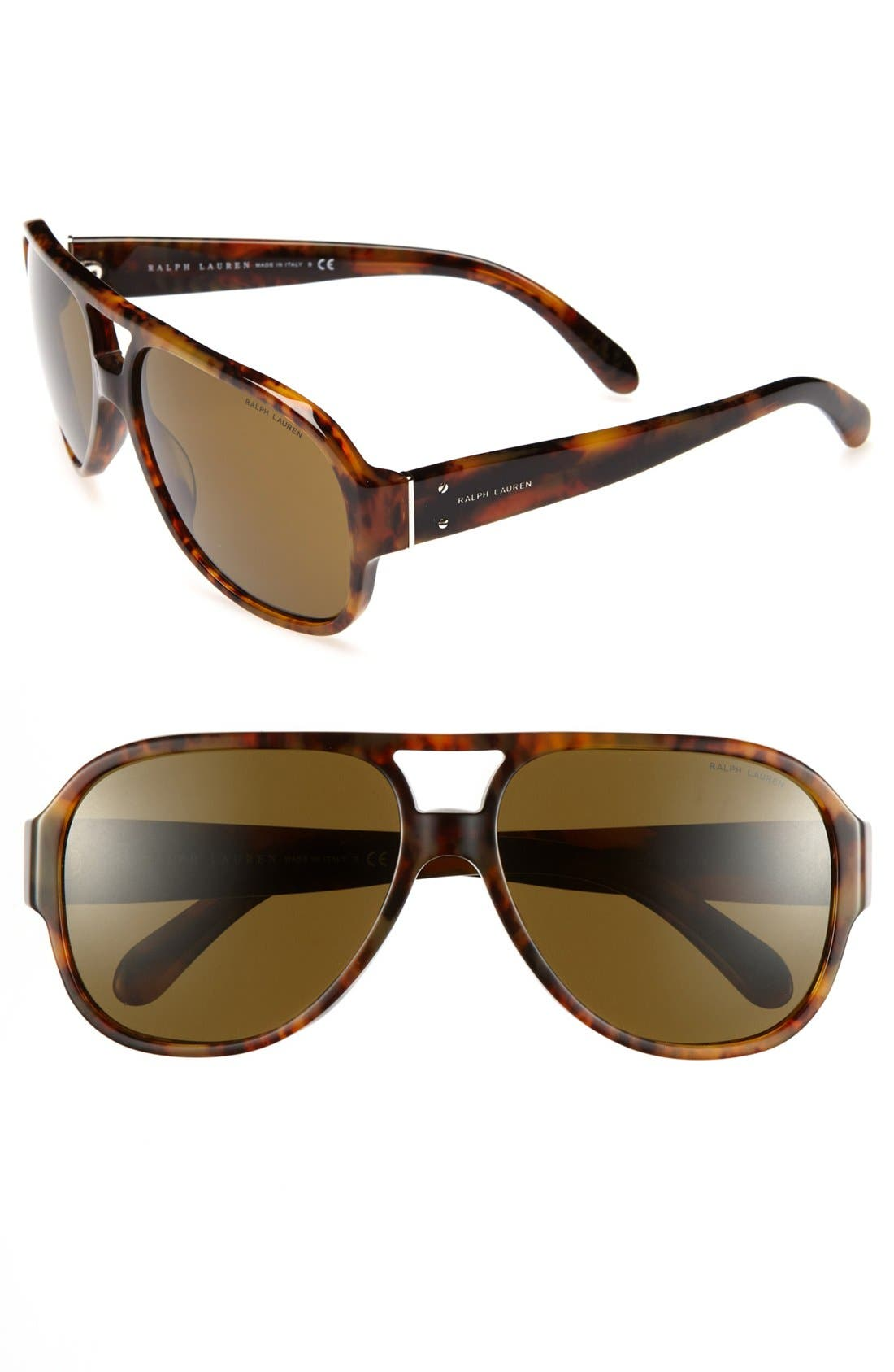 Alternate Image 1 Selected - Polo Ralph Lauren 61mm Aviator Sunglasses