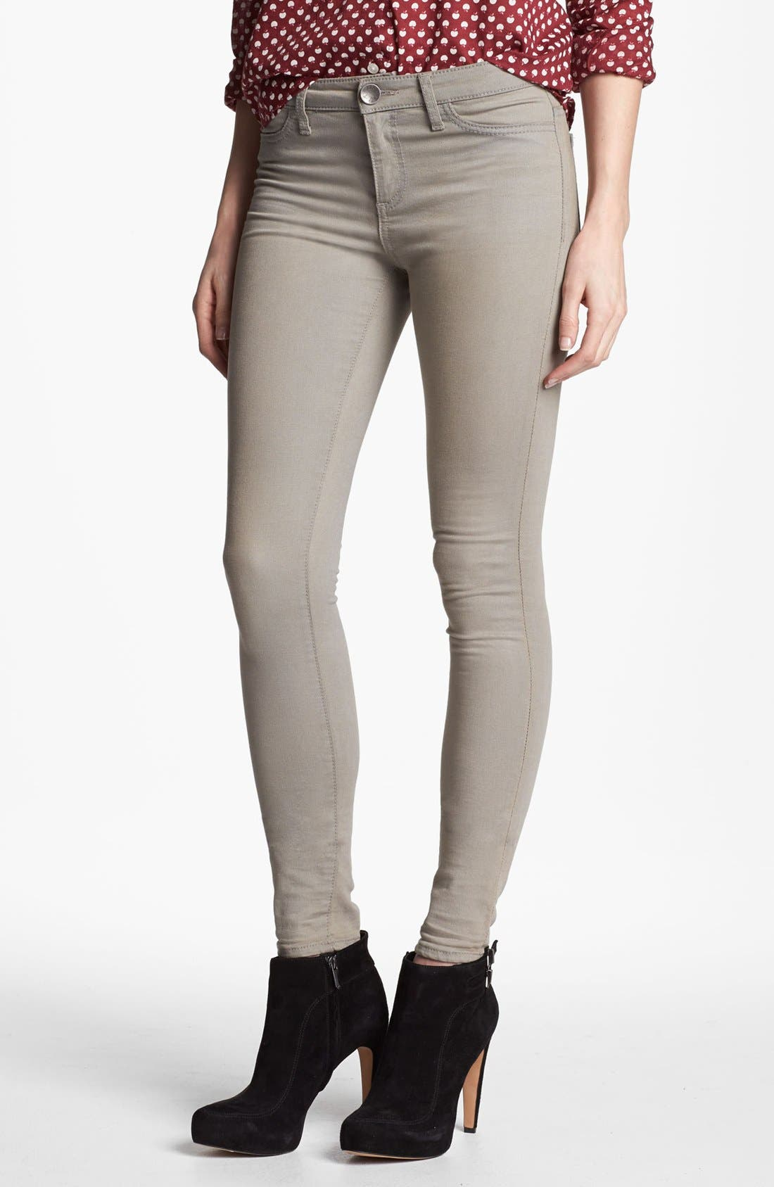Main Image - KUT from the Kloth 'Jennifer' Skinny Jeans (Taupe Grey)