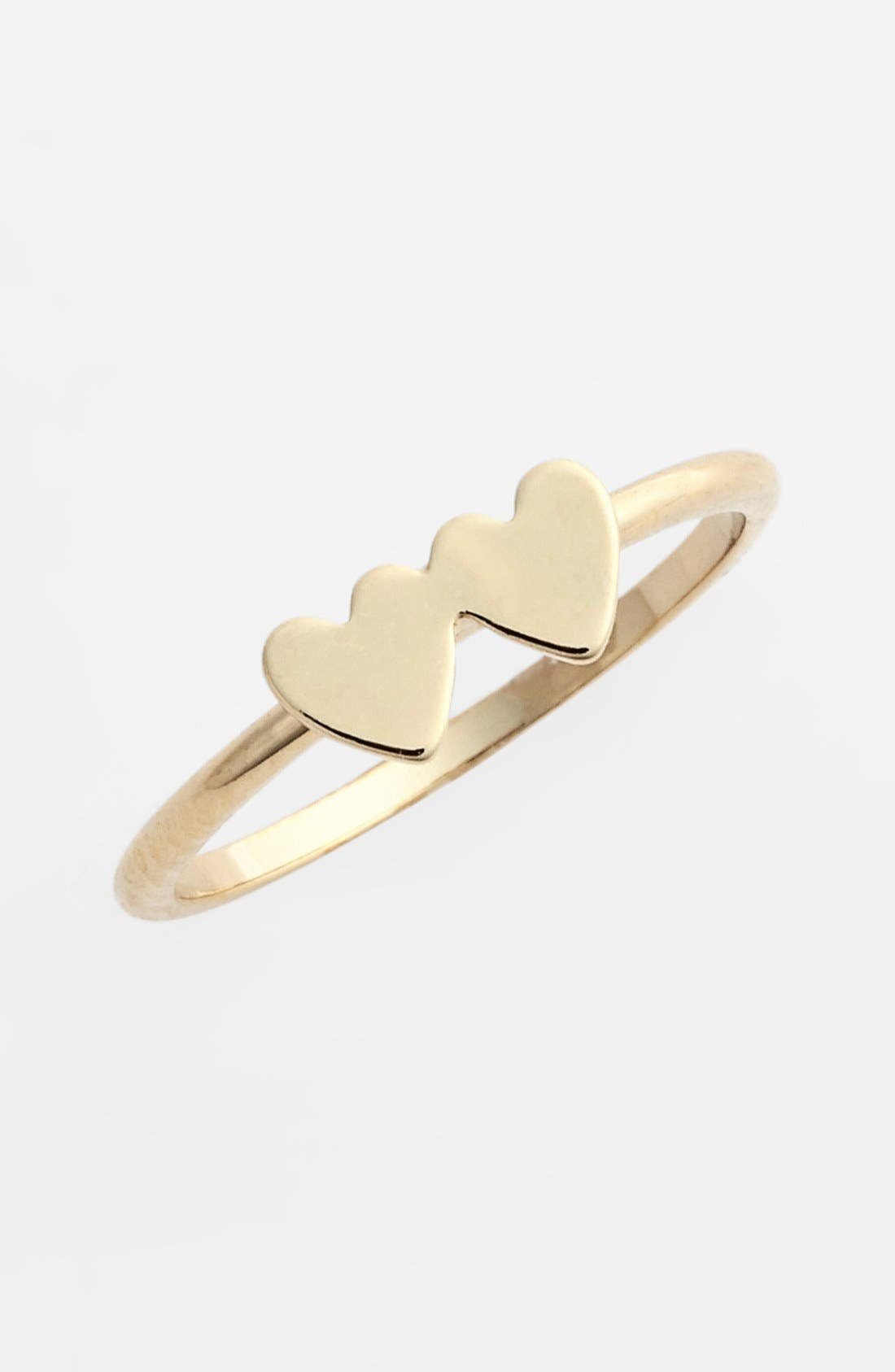 Alternate Image 1 Selected - Rachel Double Heart Midi Ring (Juniors)