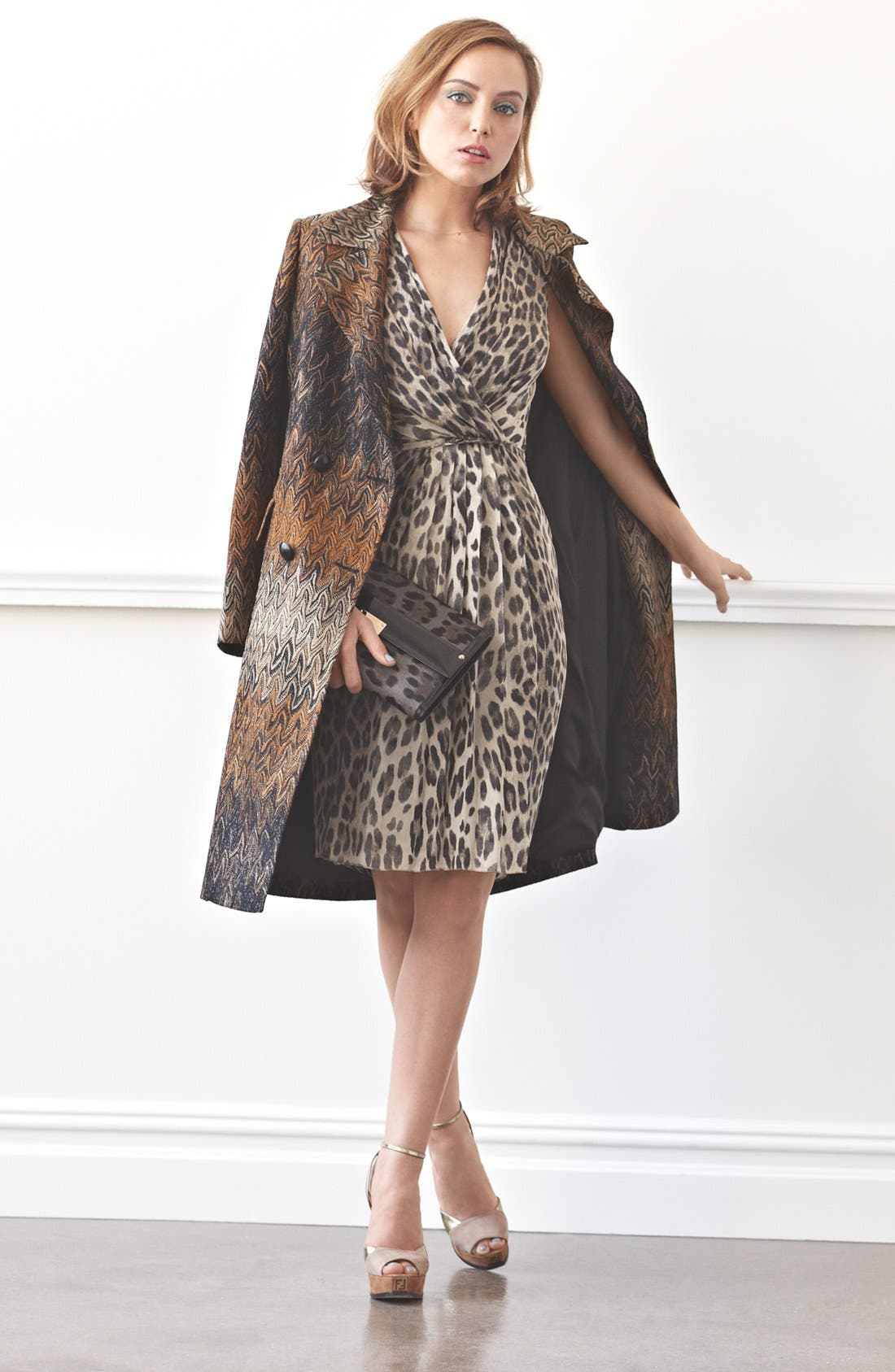 Alternate Image 5  - Jimmy Choo 'Reese - Extra Large' Leopard Print Calf Hair Clutch