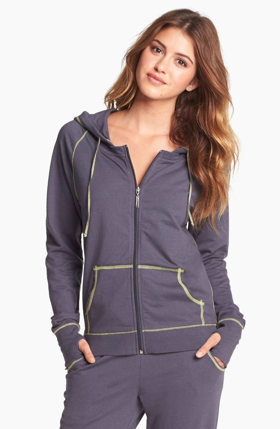Alternate Image 1 Selected - Steve Madden Zip Front Hoodie