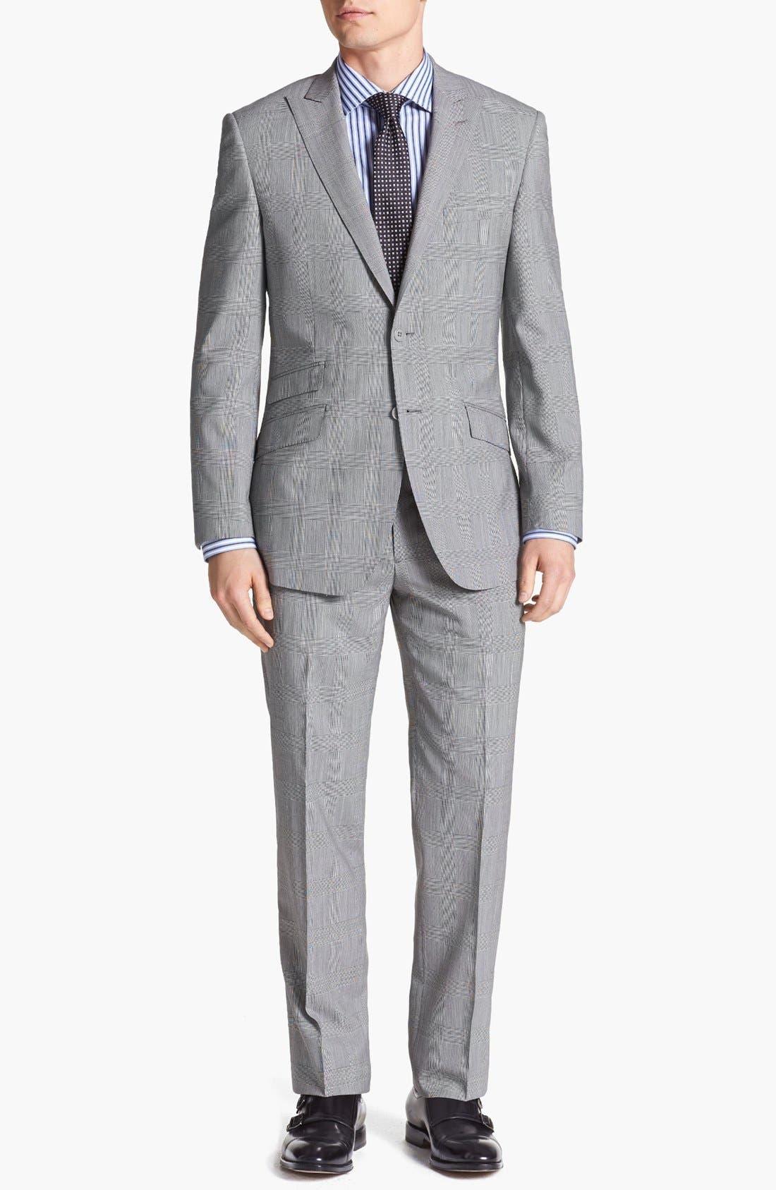 Main Image - English Laundry Trim Fit Plaid Suit