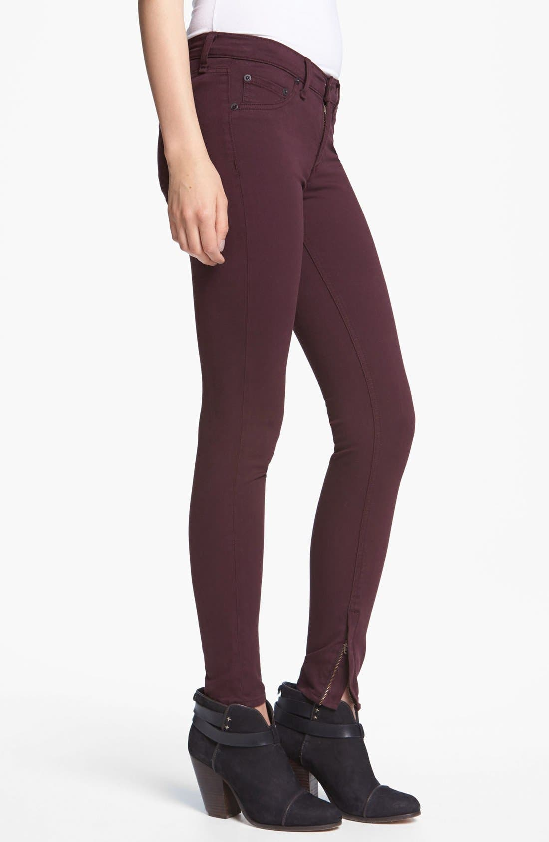 Alternate Image 3  - rag & bone/JEAN Plush Twill Leggings