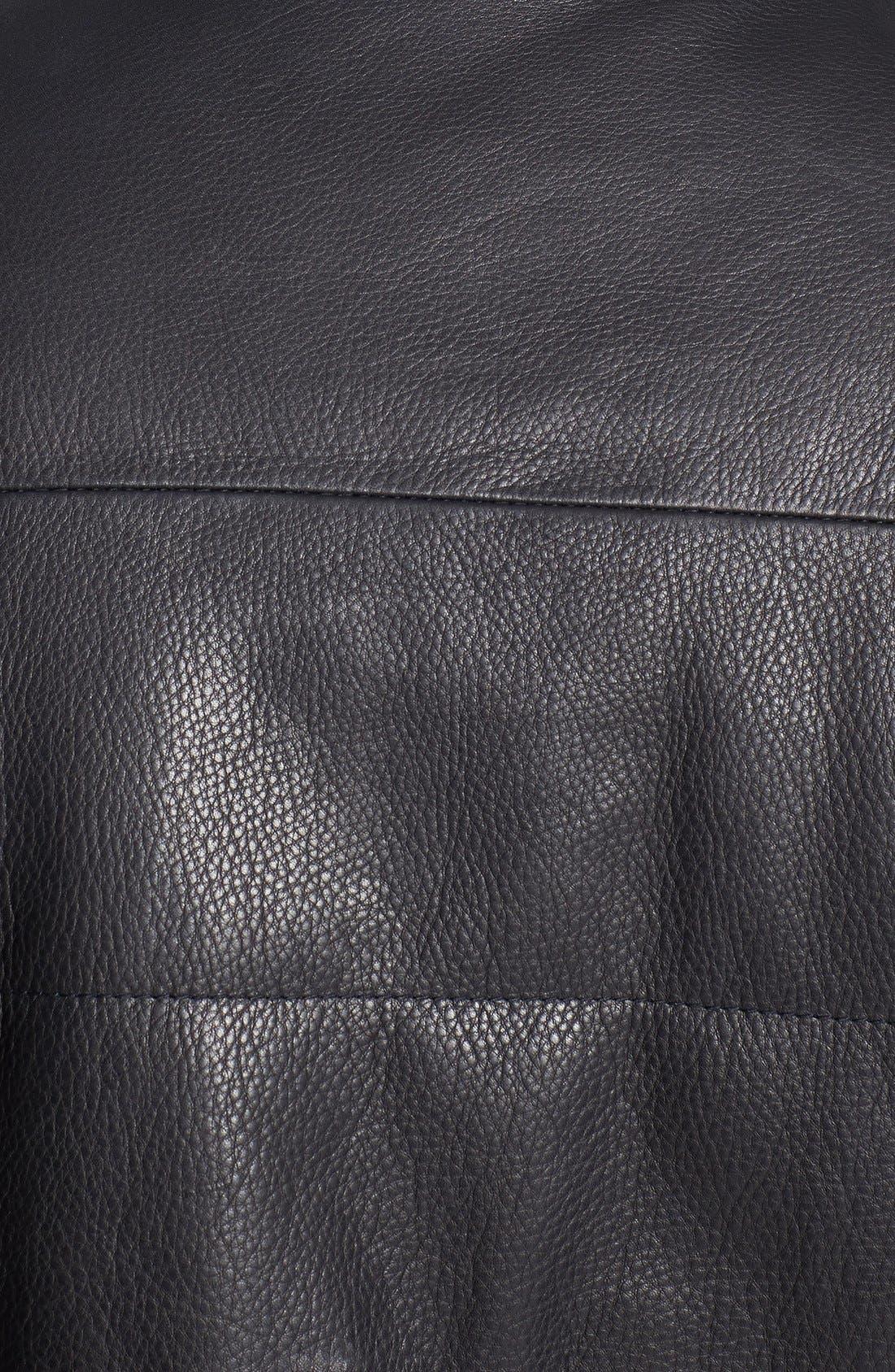 Leather Vest,                             Alternate thumbnail 3, color,                             Black