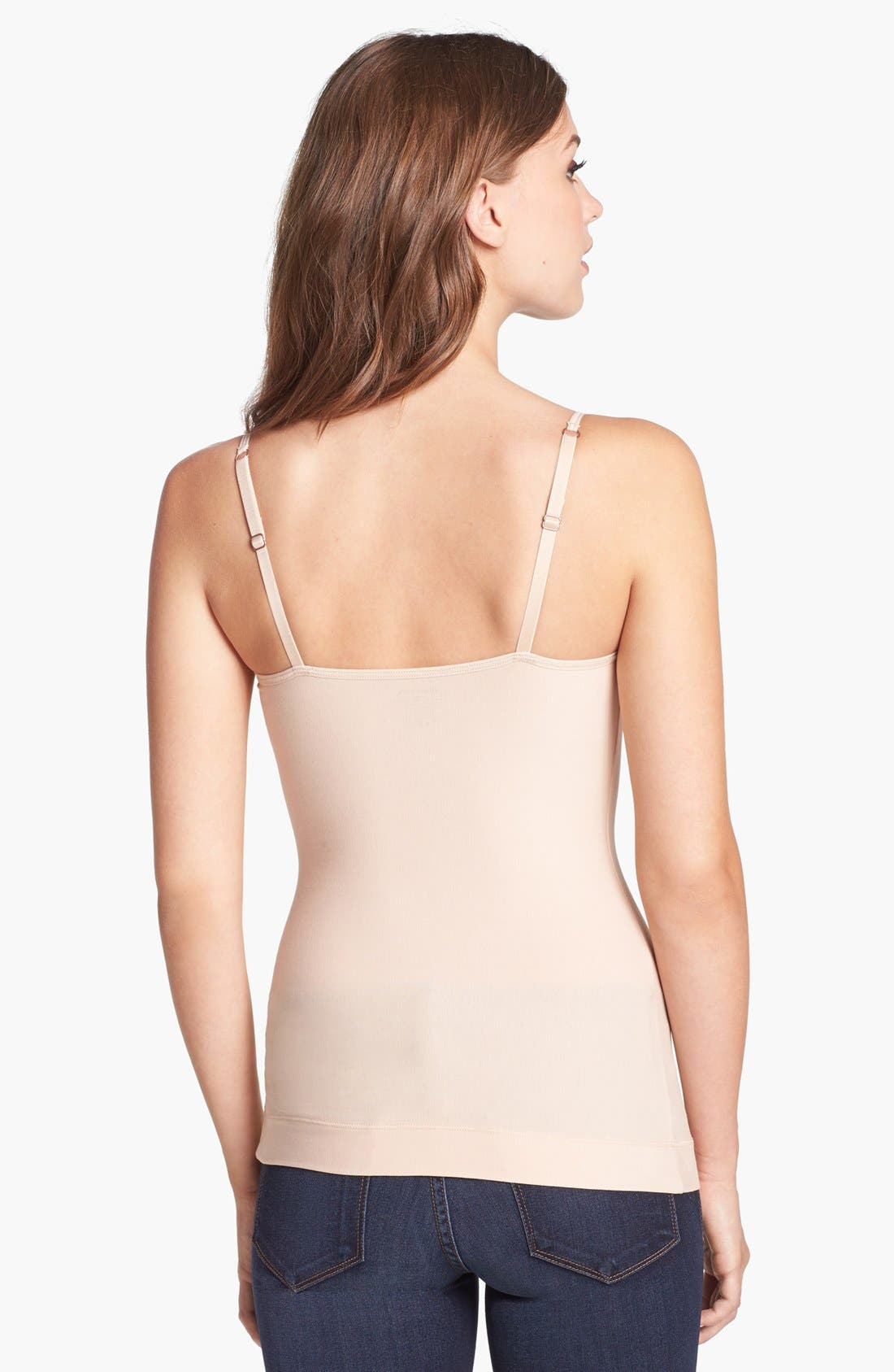 Alternate Image 2  - NEARLY NUDE 'Smooth Cotton' Camisole Shaper
