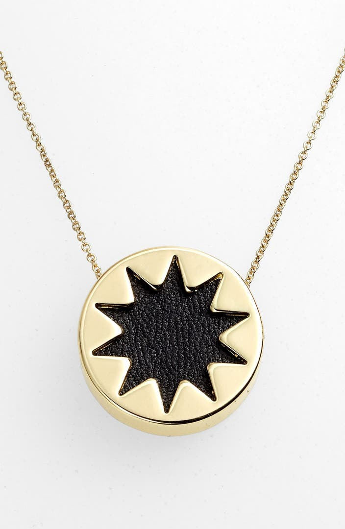 house of harlow 1960 mini sunburst pendant necklace