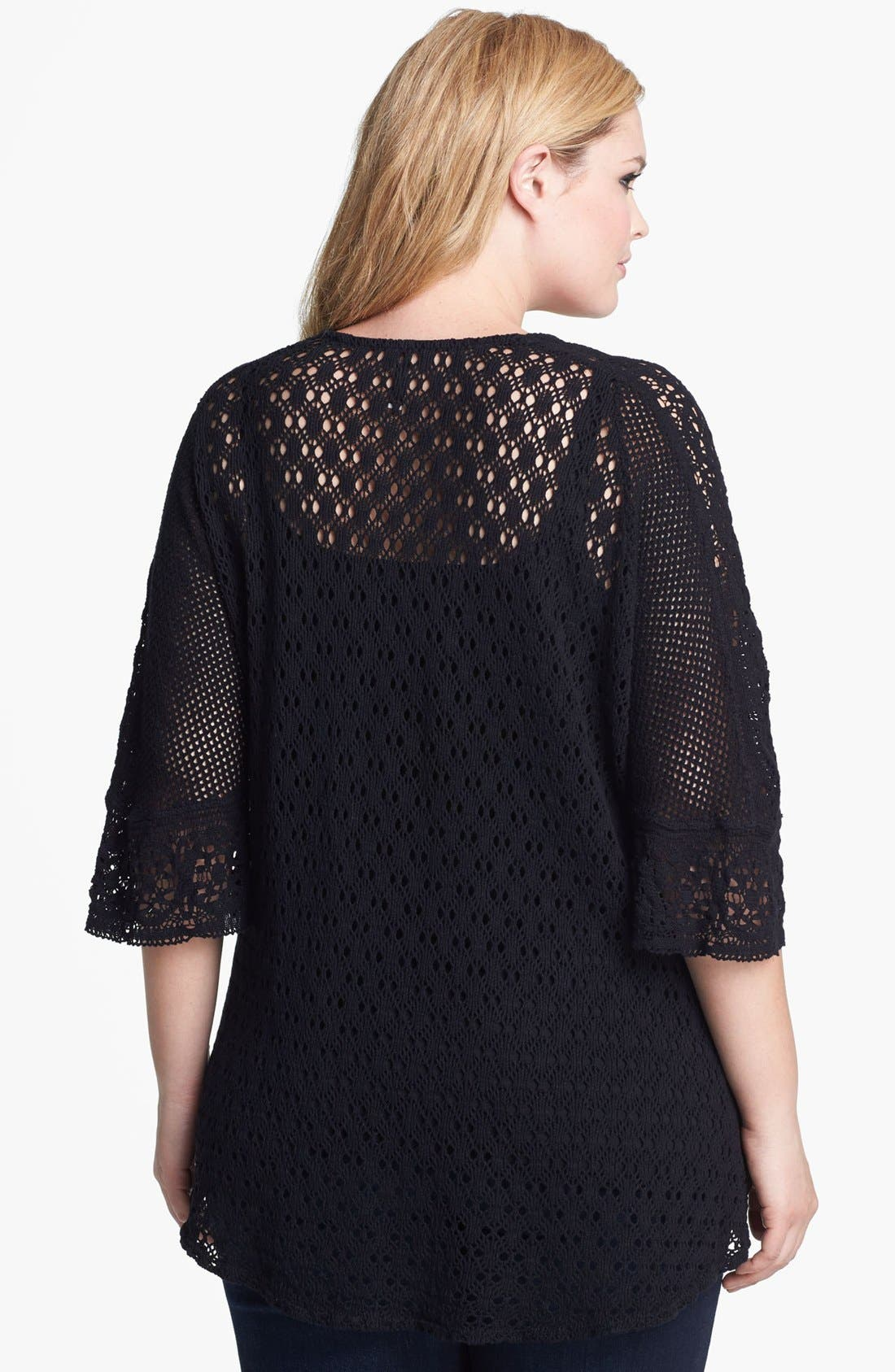 Alternate Image 2  - XCVI Wearables Crochet Lace Tunic (Plus Size)