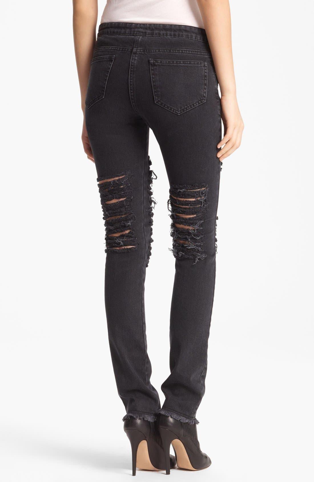 Alternate Image 2  - Christopher Kane Skinny Ripped Stretch Jeans