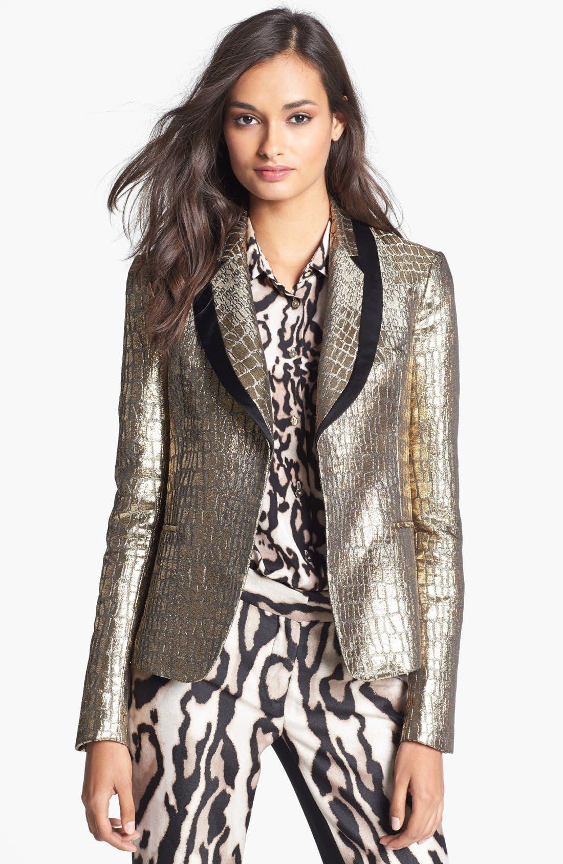 Alternate Image 1 Selected - Diane von Furstenberg 'Ofelia' Metallic Blazer
