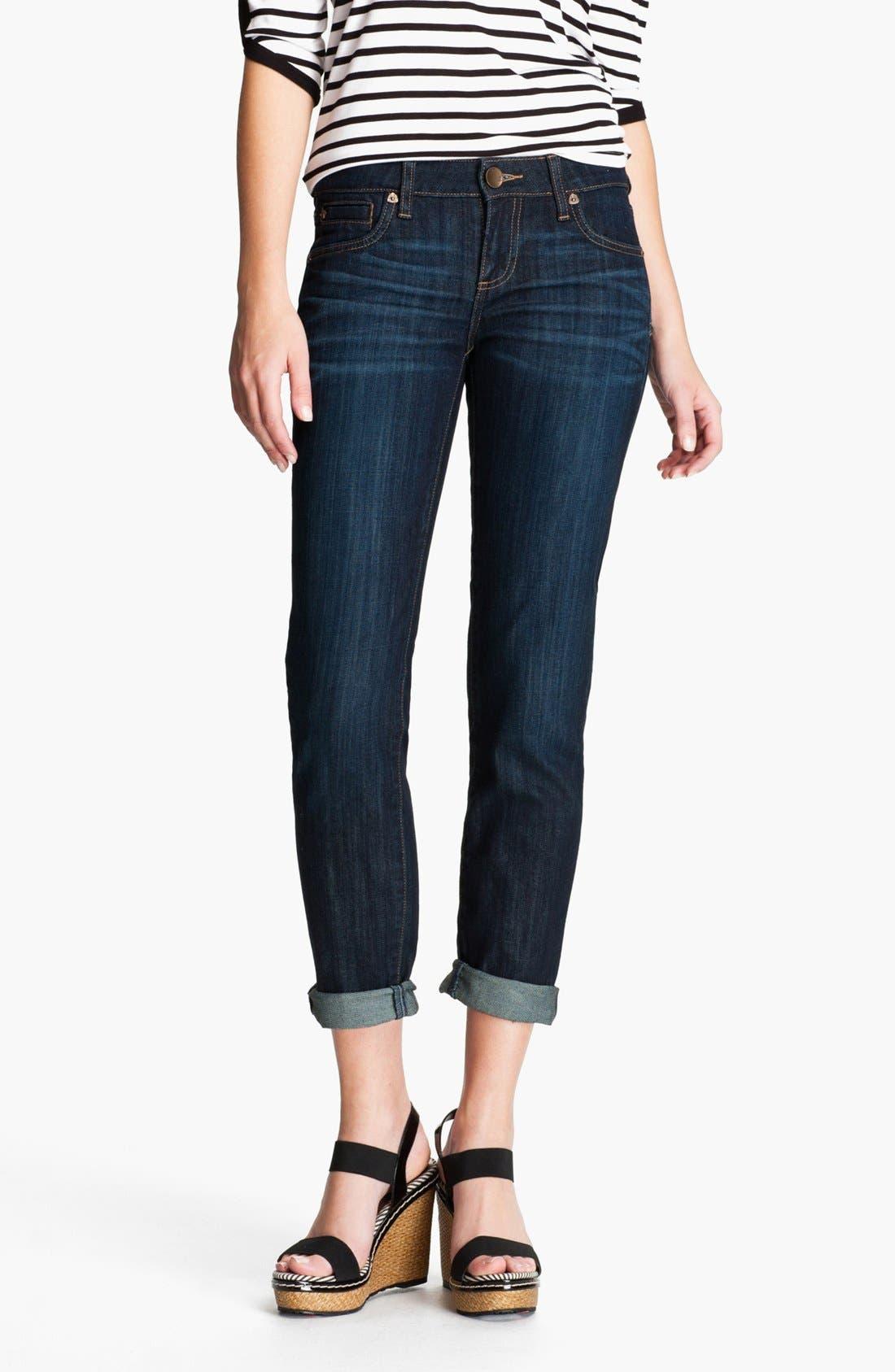 Main Image - KUT from the Kloth 'Catherine' Slim Boyfriend Jeans (Royal) (Regular & Petite)