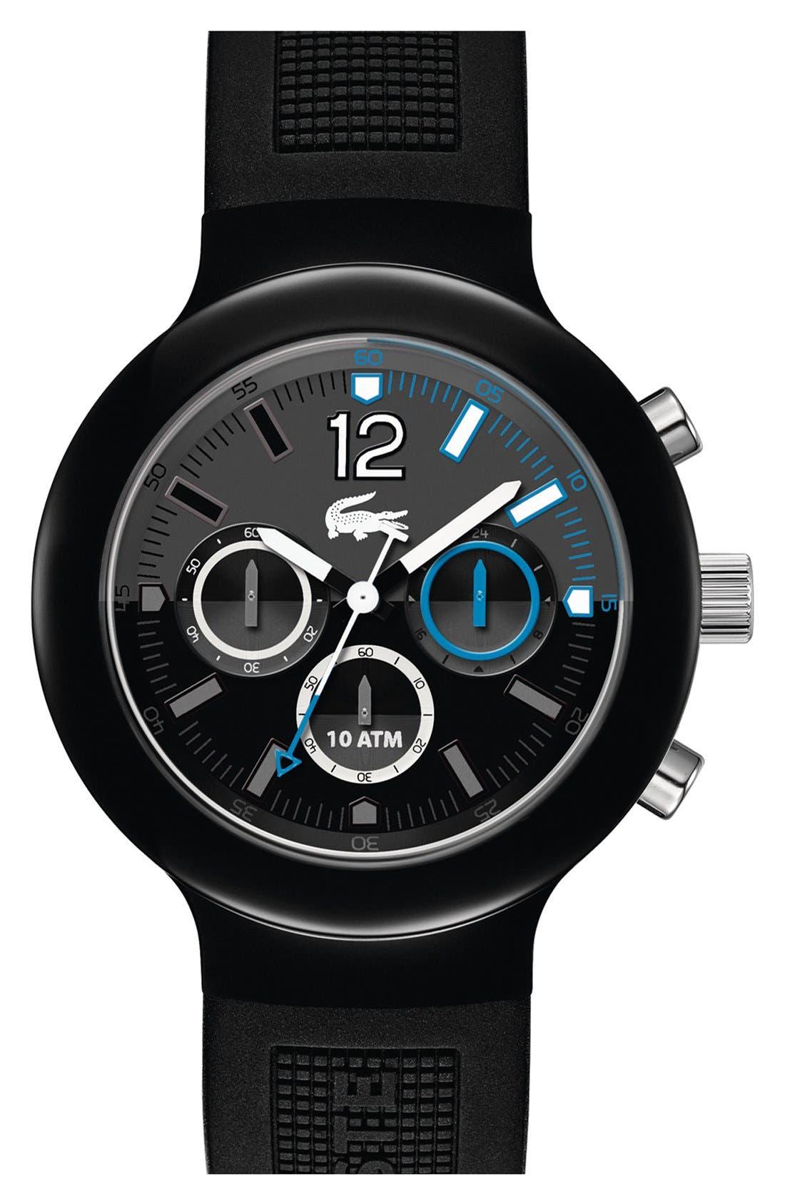 Main Image - Lacoste 'Borneo' Chronograph Silicone Strap Watch, 44mm