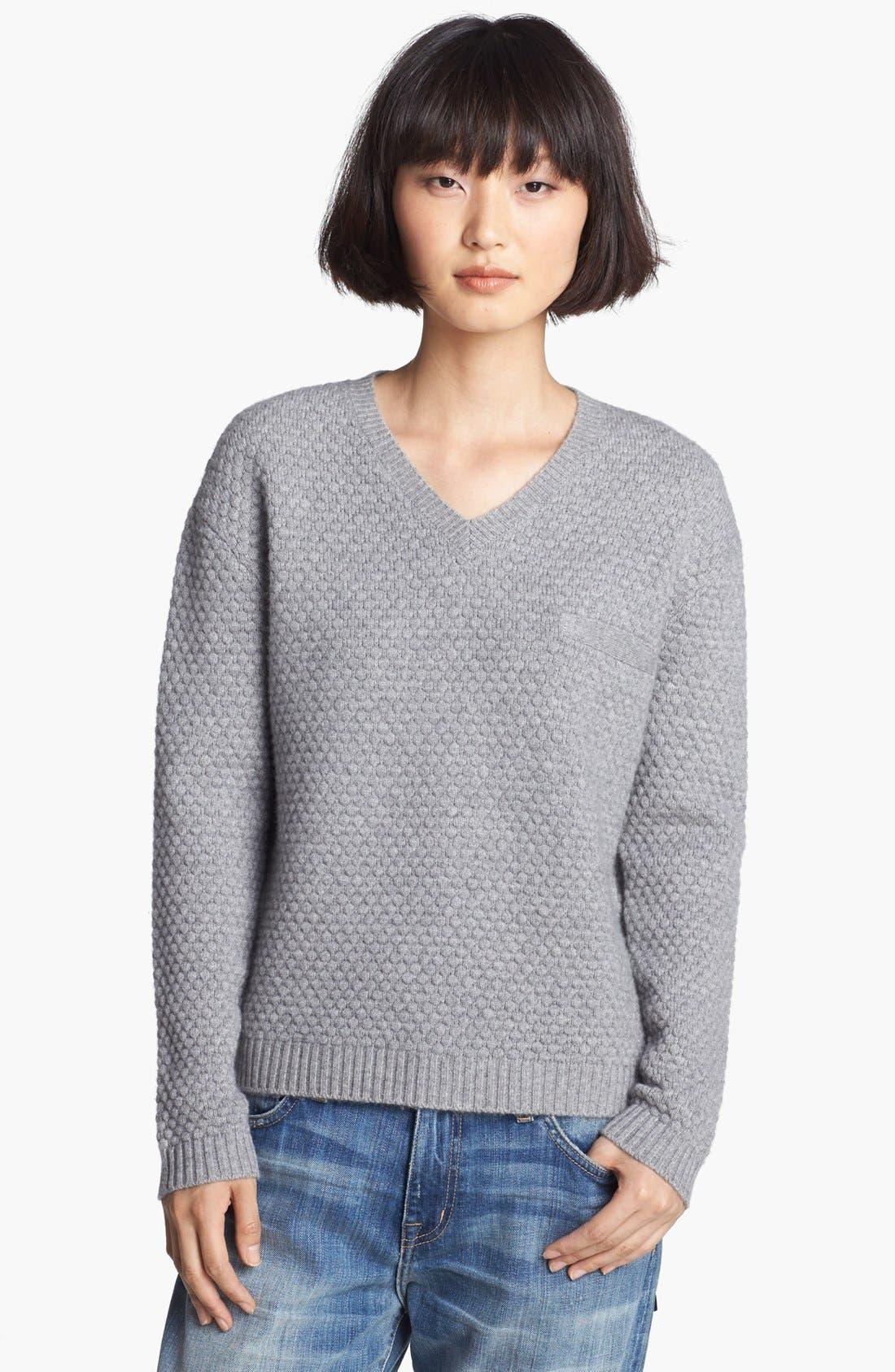 Main Image - Loma 'Joe' Popcorn Stitch Sweater