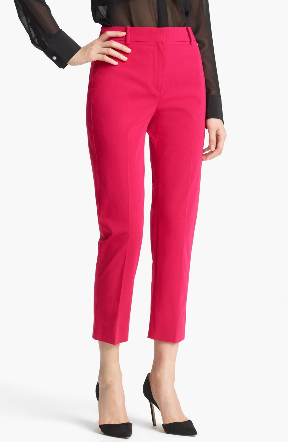 Alternate Image 1 Selected - Max Mara 'Genova' Stretch Cotton Crop Pants