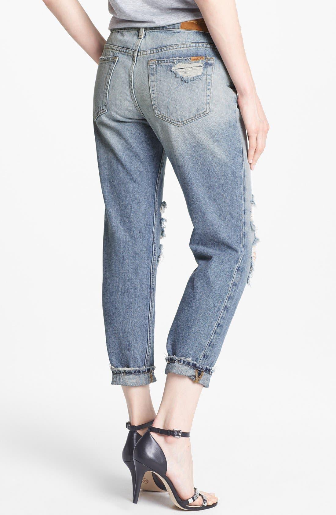 Alternate Image 2  - Joe's 'Easy Highwater' Destroyed Jeans (Keerst)