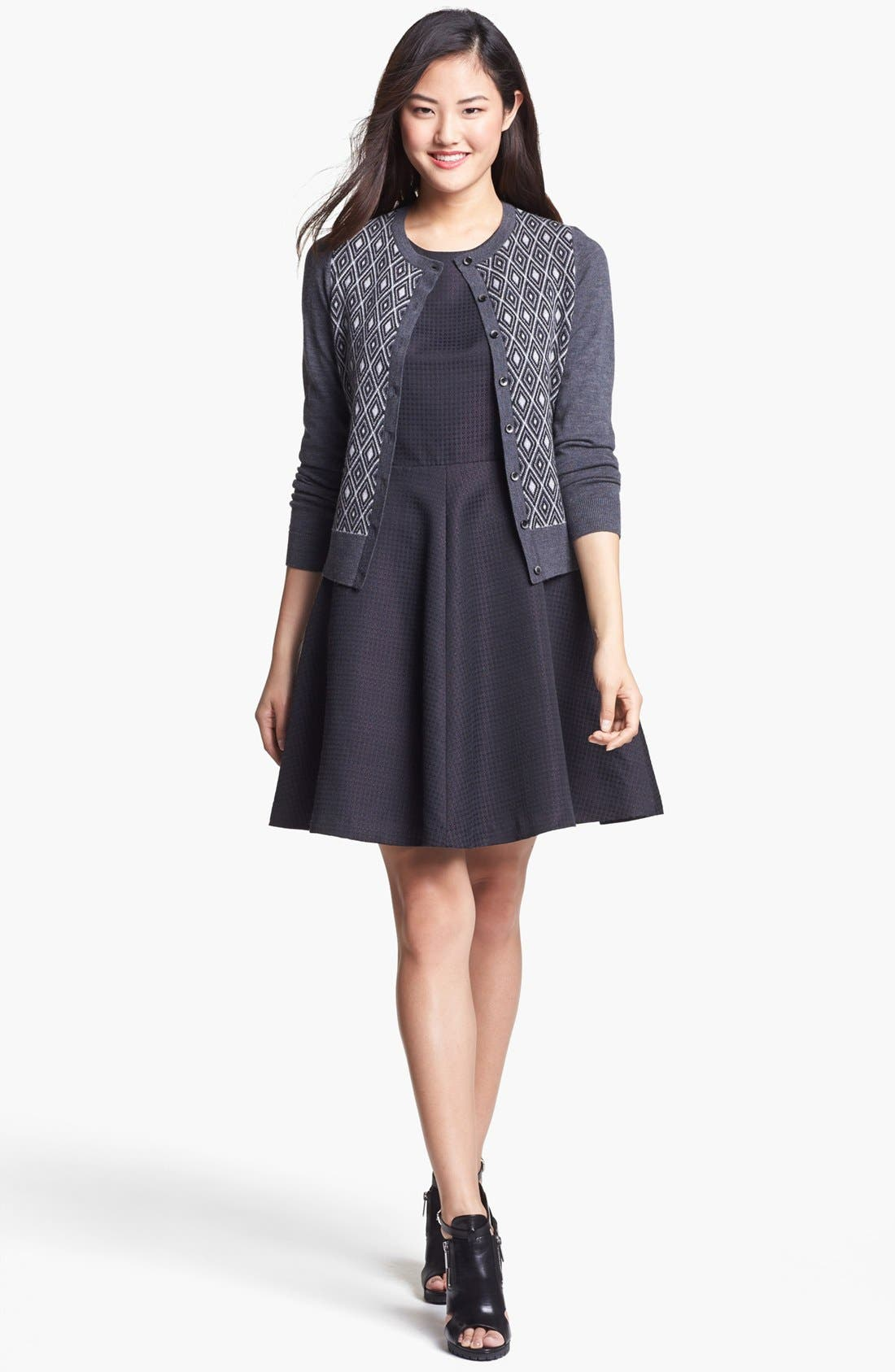 Alternate Image 4  - Halogen® Jacquard Fit & Flare Dress (Regular & Petite)