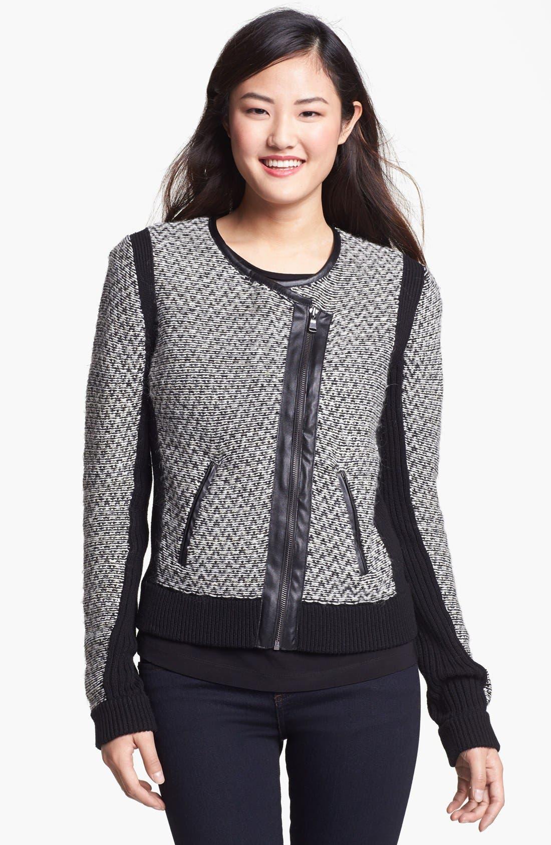 Alternate Image 1 Selected - Vince Camuto Knit Moto Jacket