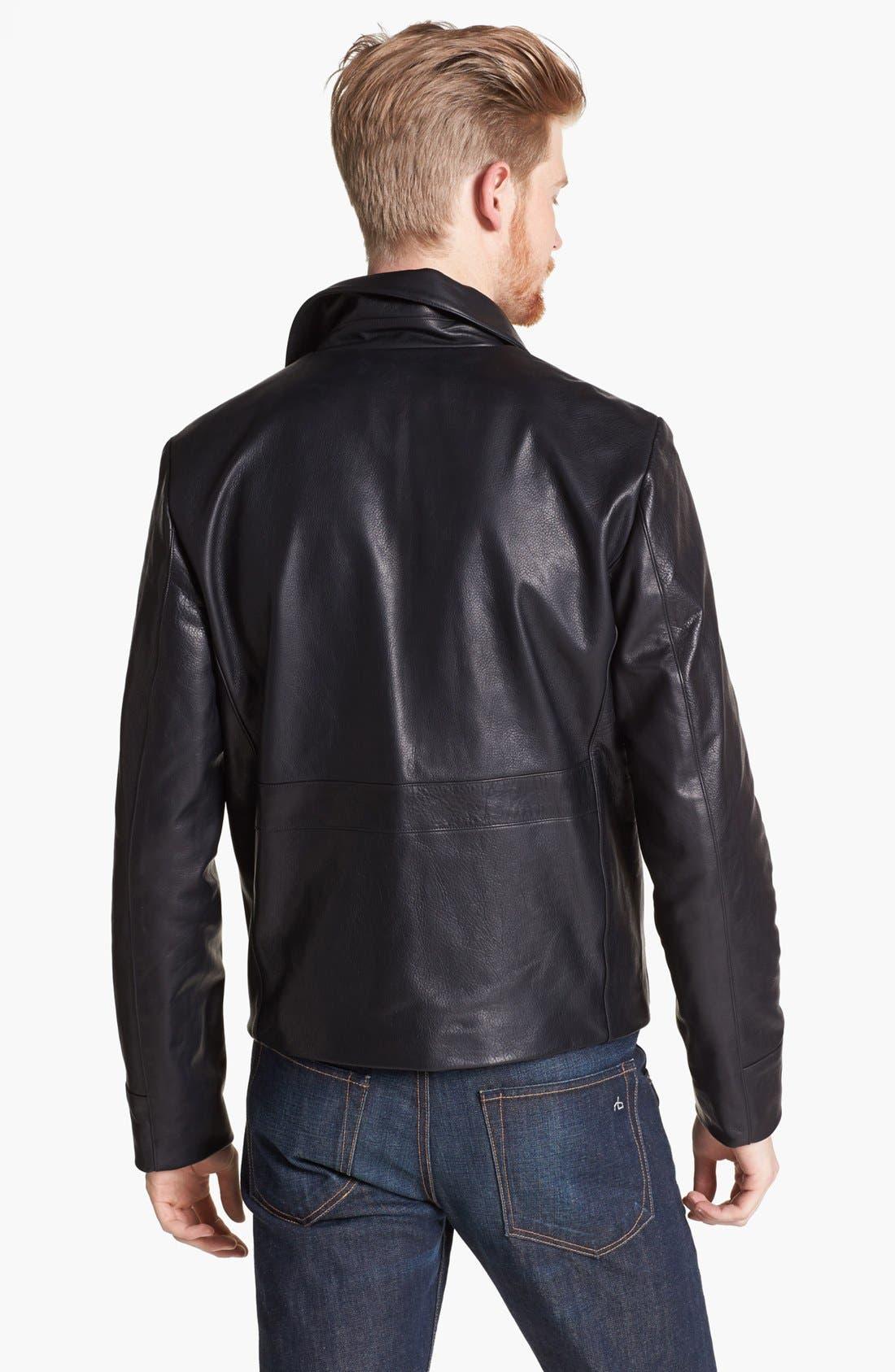 Alternate Image 2  - Billy Reid Leather Flight Jacket