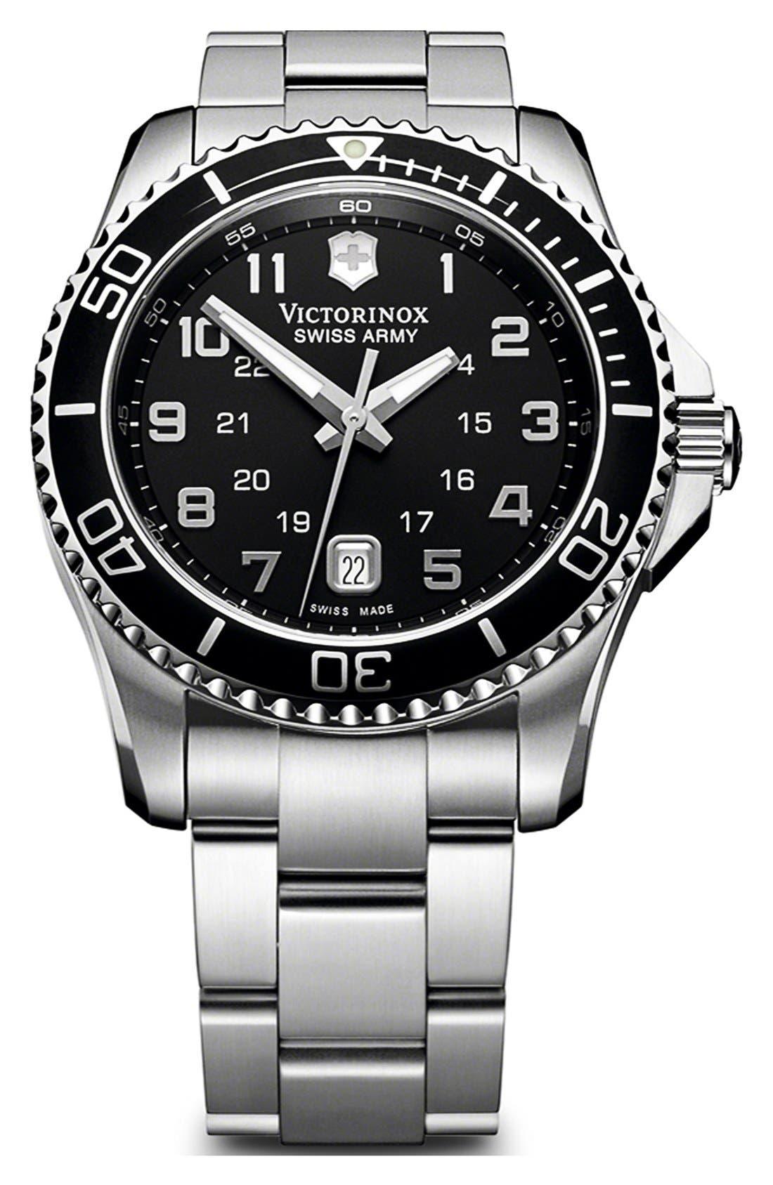 Alternate Image 1 Selected - Victorinox Swiss Army® 'Maverick GS' Stainless Steel Watch, 43mm