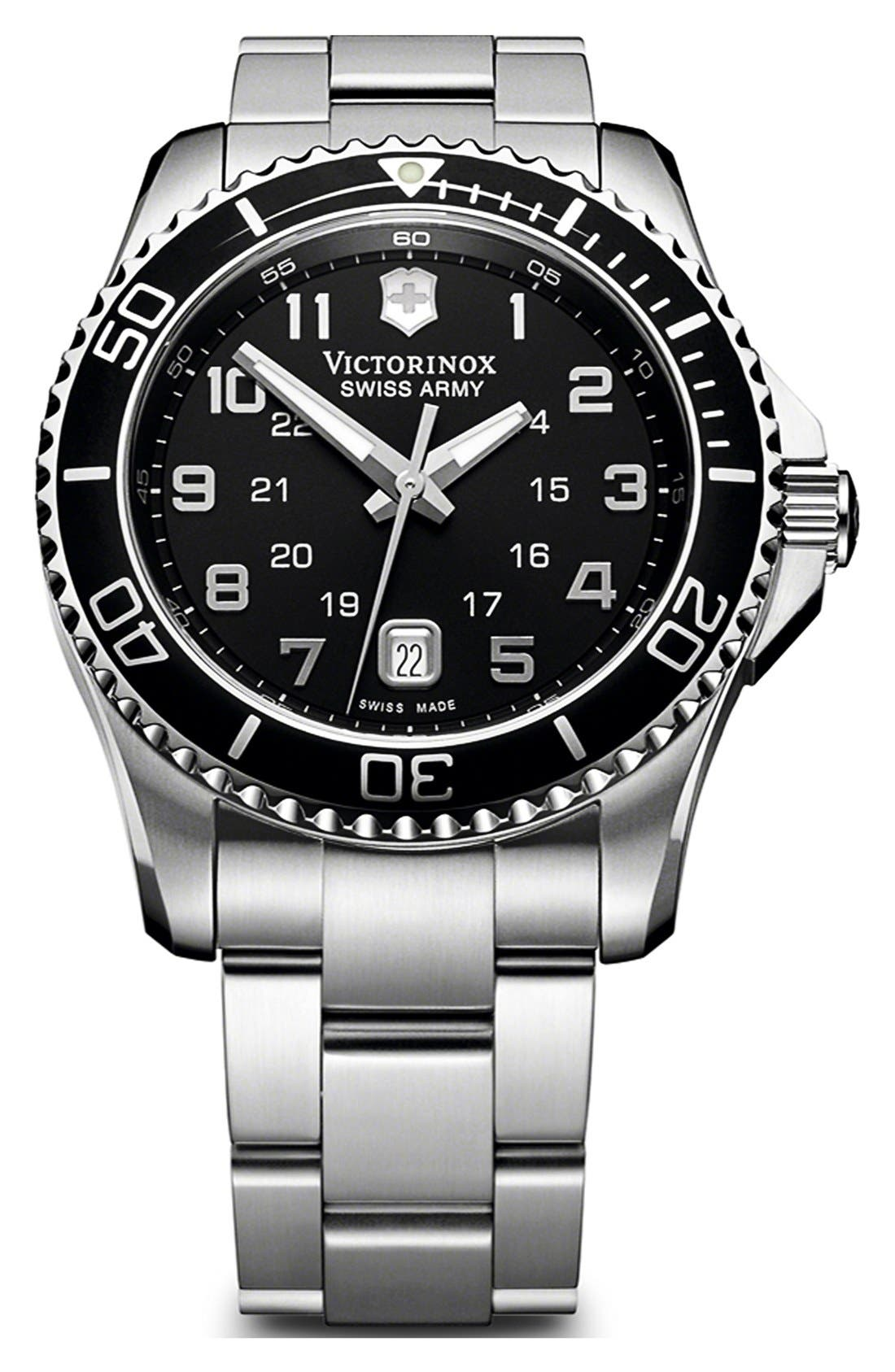 Main Image - Victorinox Swiss Army® 'Maverick GS' Stainless Steel Watch, 43mm