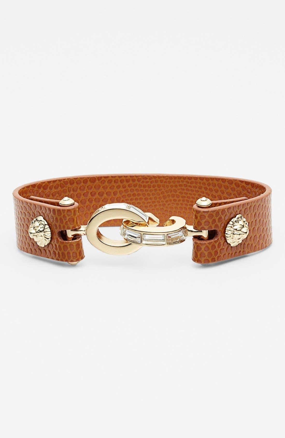 Alternate Image 1 Selected - Anne Klein Leather & Link Bracelet