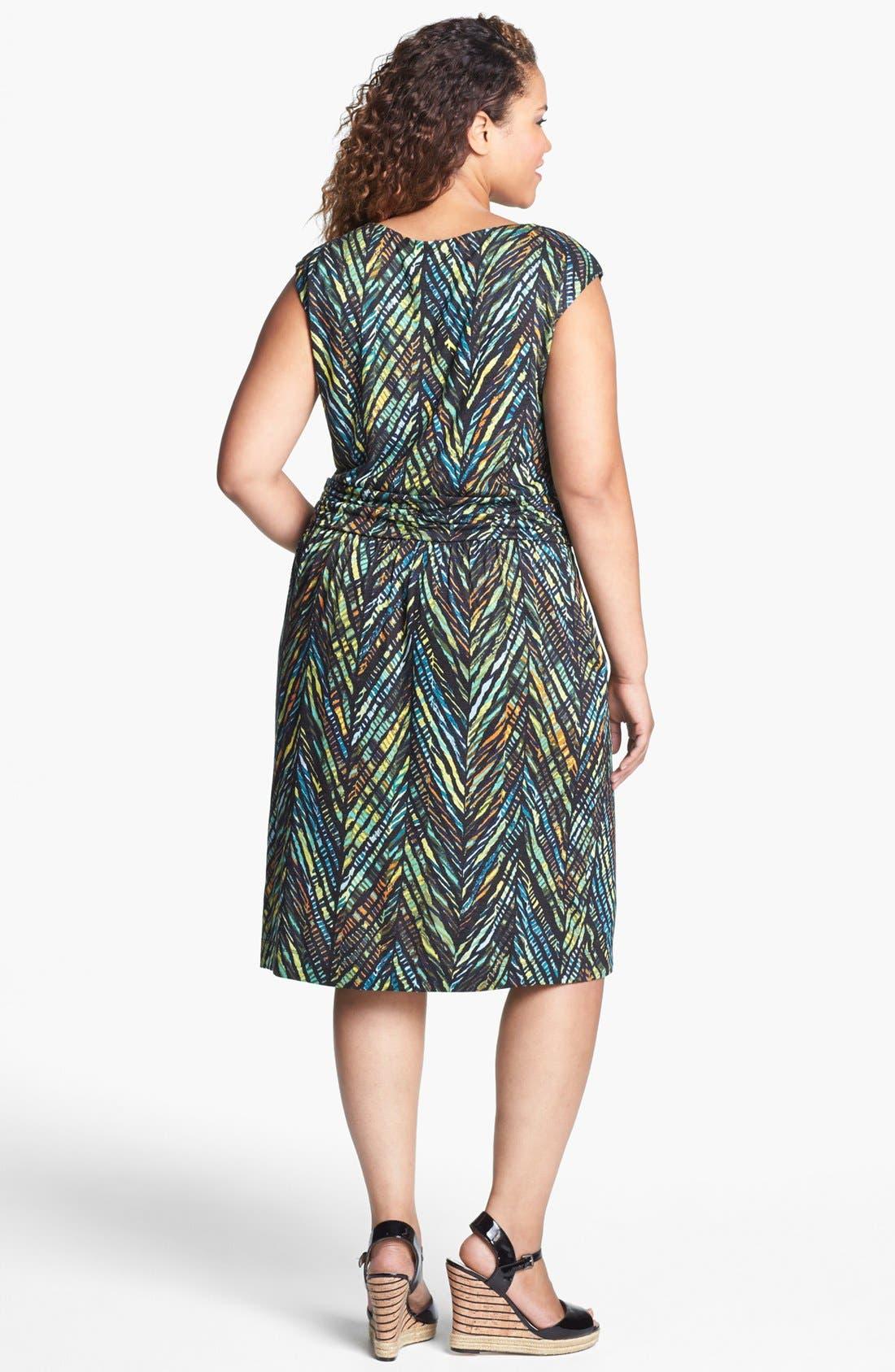 Alternate Image 2  - NIC+ZOE Print Faux Wrap Dress (Plus Size)
