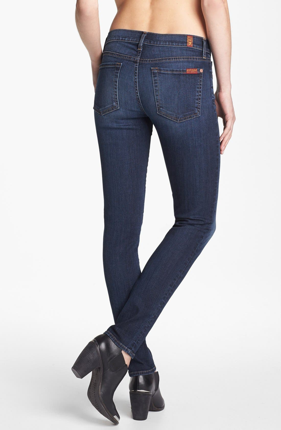 Alternate Image 2  - 7 For All Mankind® 'The Slim Cigarette' Stretch Jeans (Camilo Blue)