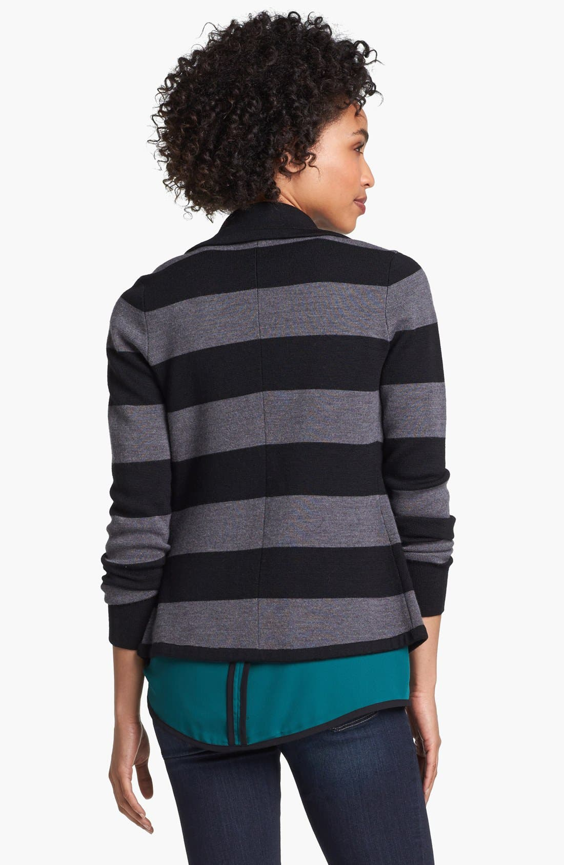Alternate Image 3  - Halogen® Ribbon Trim Sweater Jacket