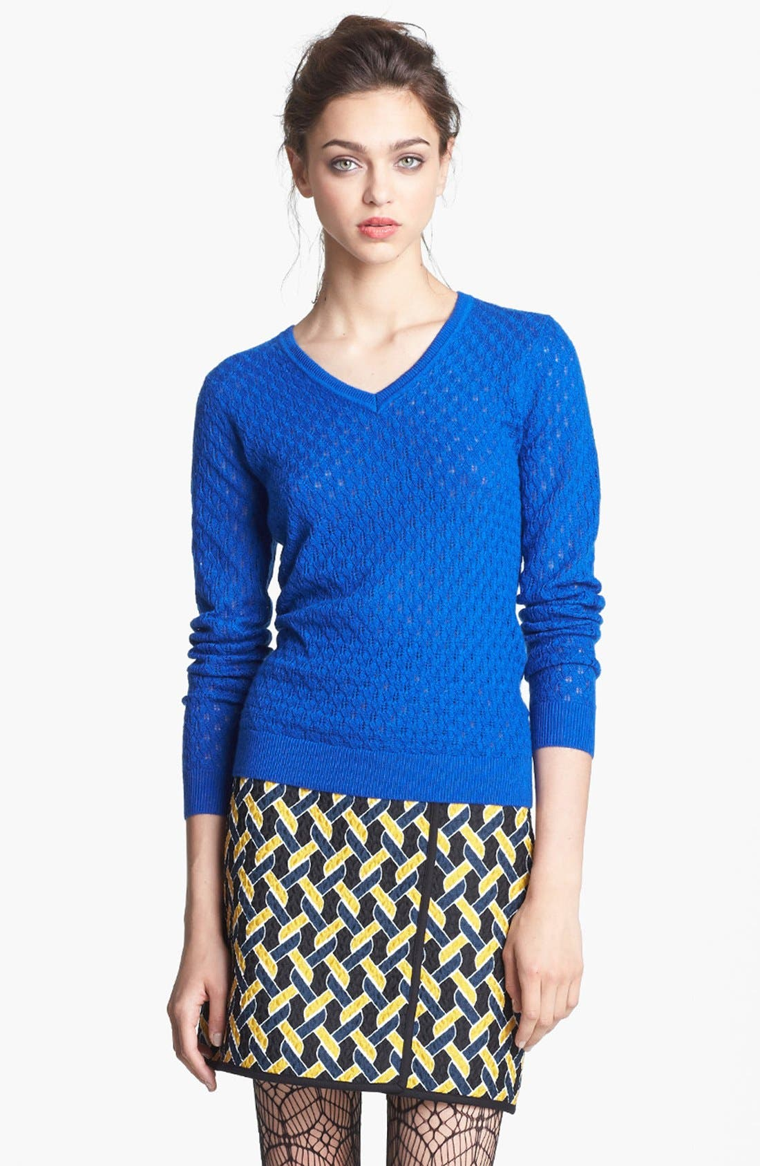 Alternate Image 1 Selected - Miss Wu 'Sofie' V-Neck Cashmere Sweater (Nordstrom Exclusive)