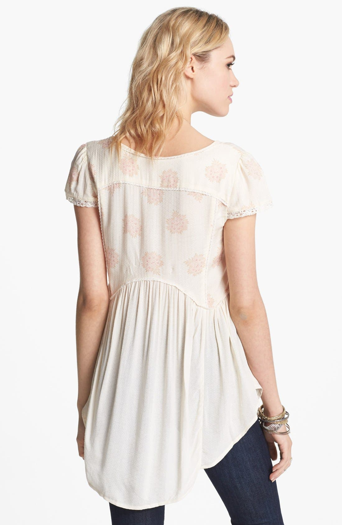 'Shake Dandelion' Babydoll Top,                             Alternate thumbnail 2, color,                             Creme Combo