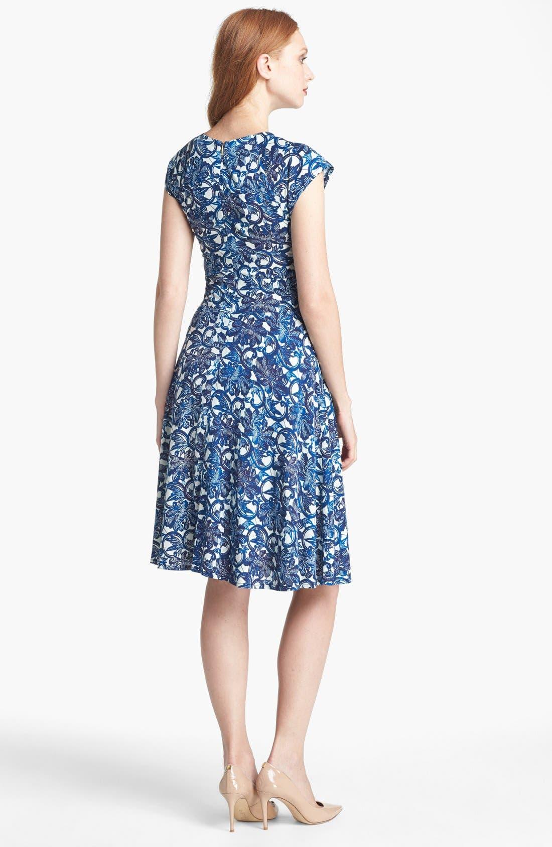 Alternate Image 2  - Tory Burch 'Sophia' Silk Fit & Flare Dress