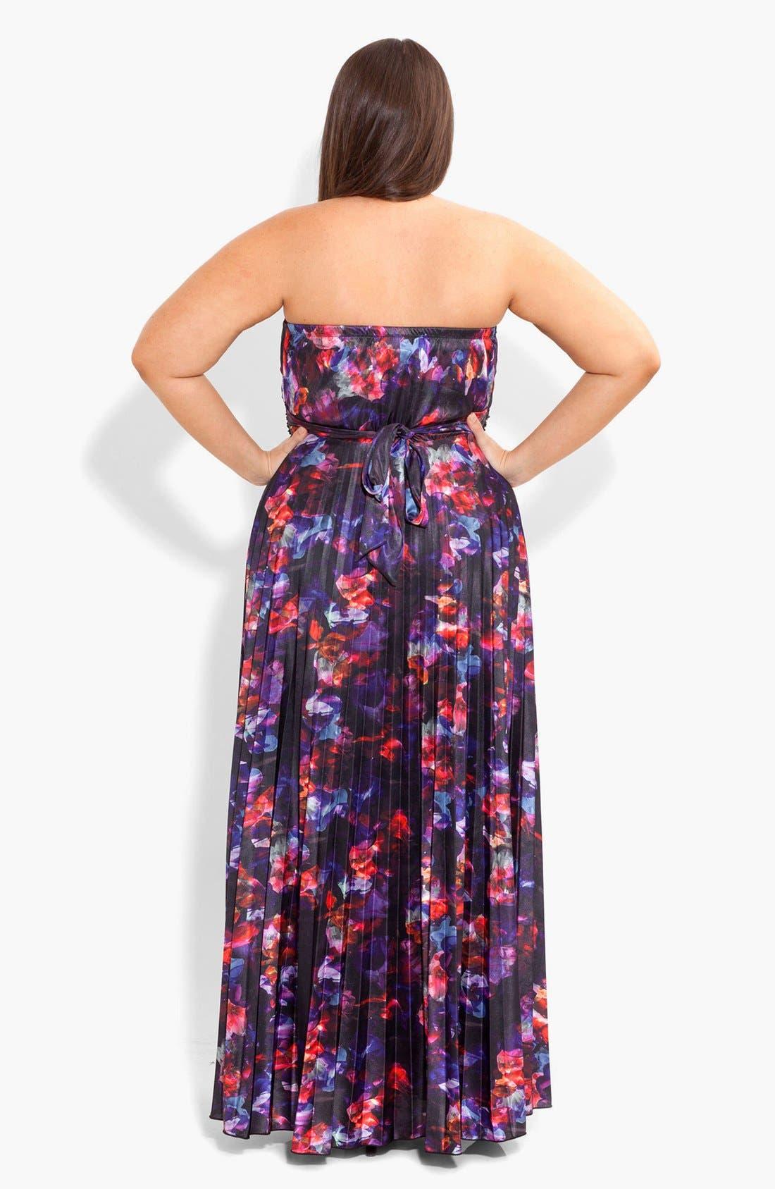 Alternate Image 2  - City Chic Embellished Print Maxi Dress (Plus Size)