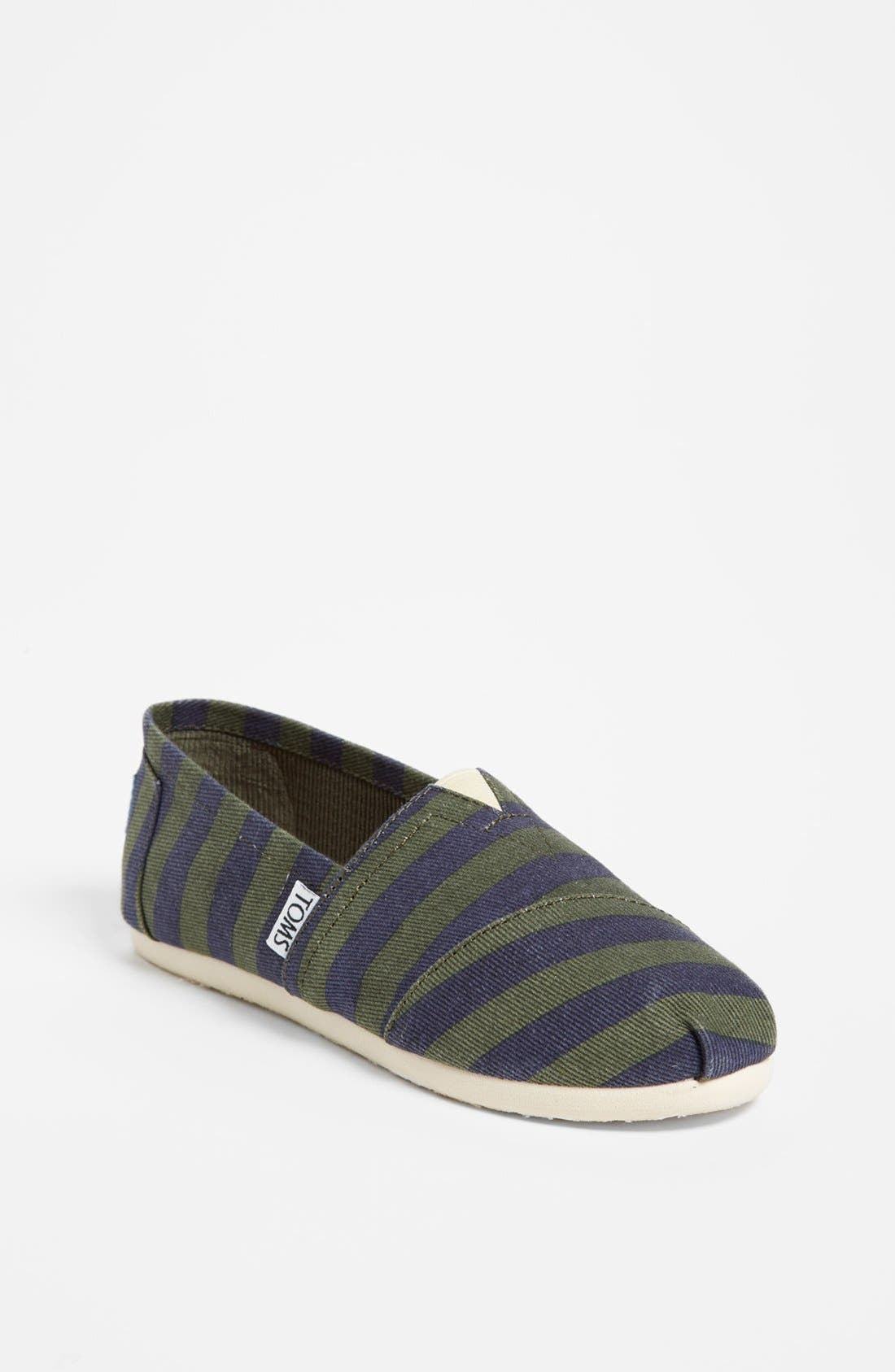 Main Image - TOMS 'Classic - Stripe' Slip-On (Toddler, Little Kid & Big Kid)(Limited Edition)