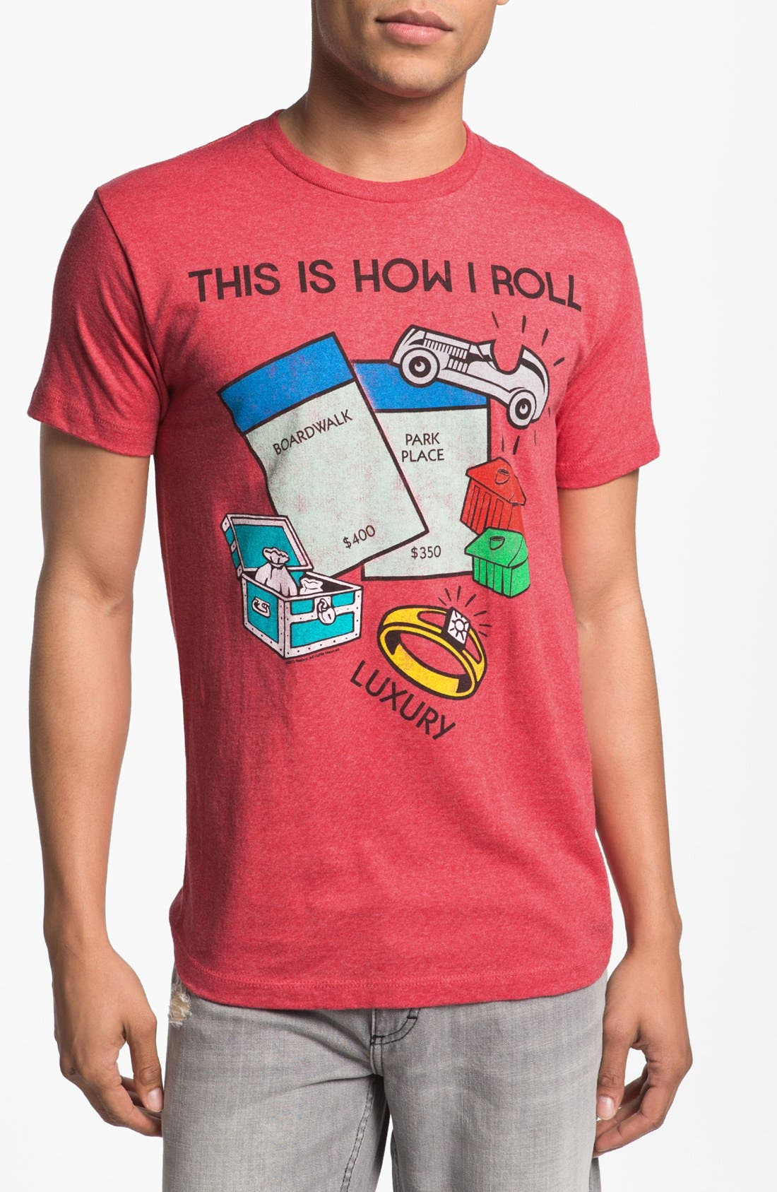 Alternate Image 1 Selected - Topless 'This Is How I Roll' Graphic T-Shirt