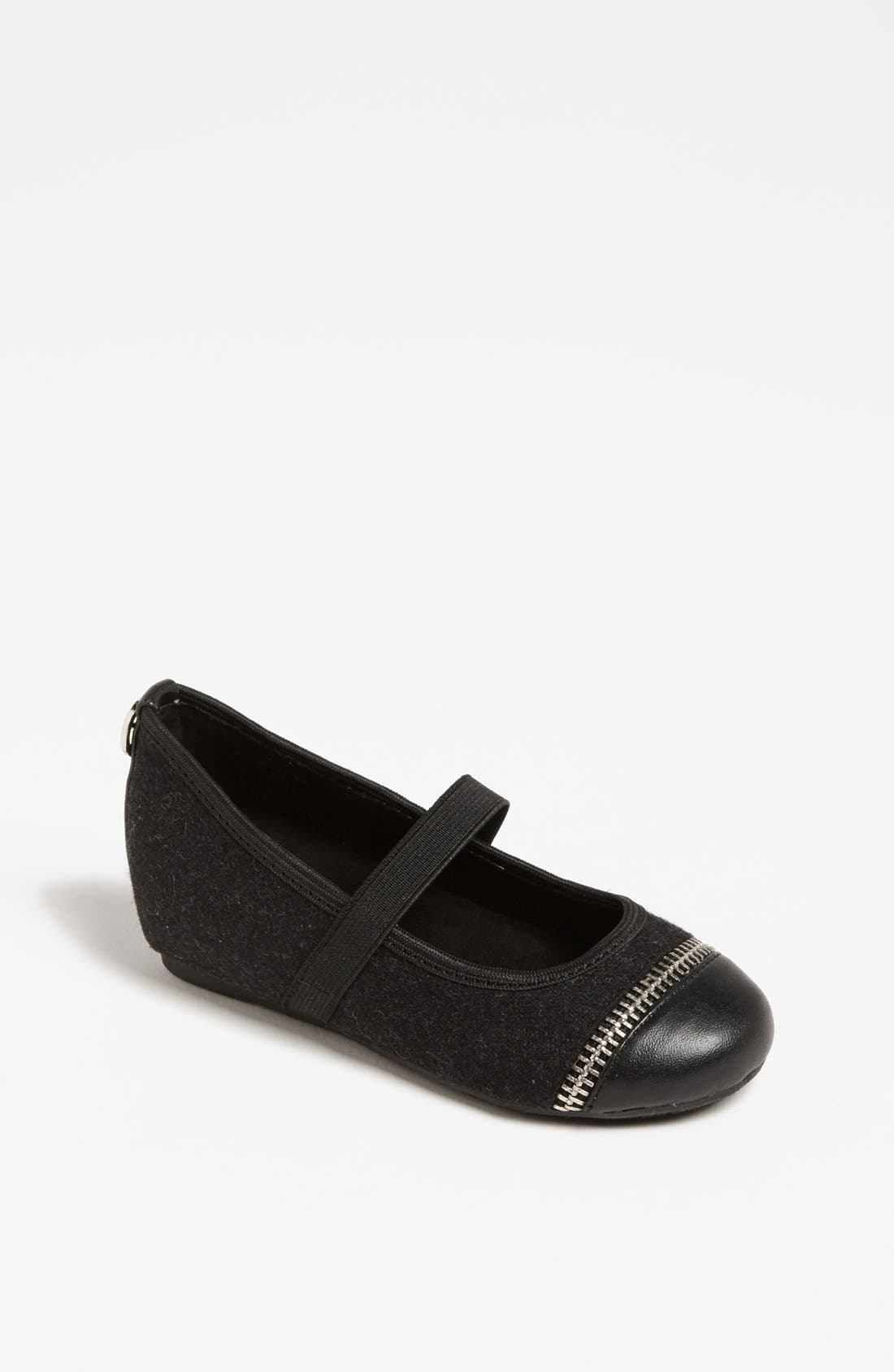 Alternate Image 1 Selected - MICHAEL Michael Kors 'Fay' Zipper Strap Flat (Toddler)