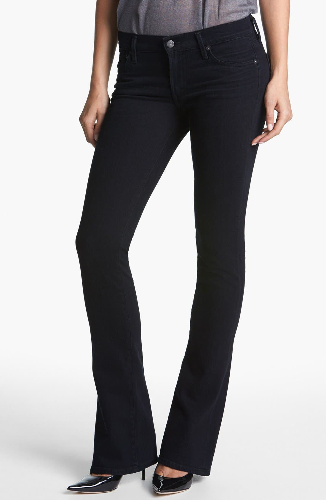 'Emmanuelle' Slim Bootcut Jeans,                         Main,                         color, Freefall