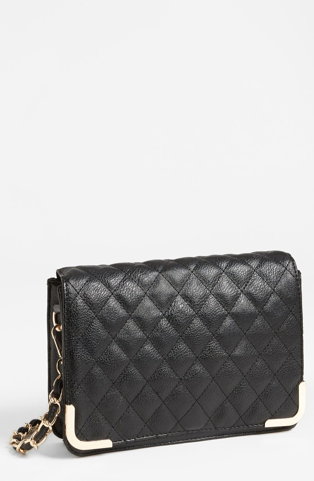 Alternate Image 1 Selected - NB Handbags Quilted Crossbody Bag (Juniors)