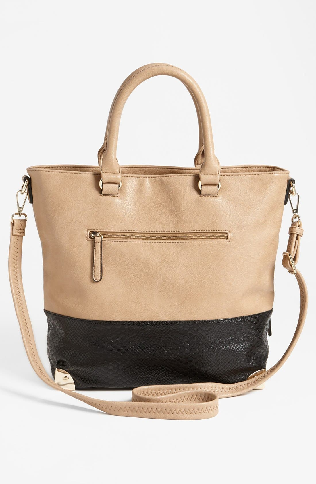 Alternate Image 4  - Emperia Snake-Embossed Faux Leather Tote (Juniors)