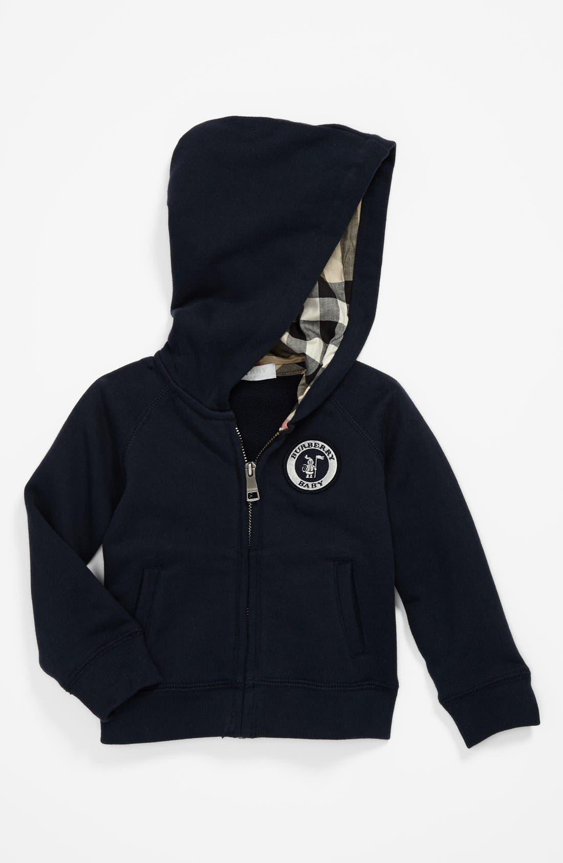 Alternate Image 1 Selected - Burberry 'Hyde' Zip Hoodie (Baby Boys)