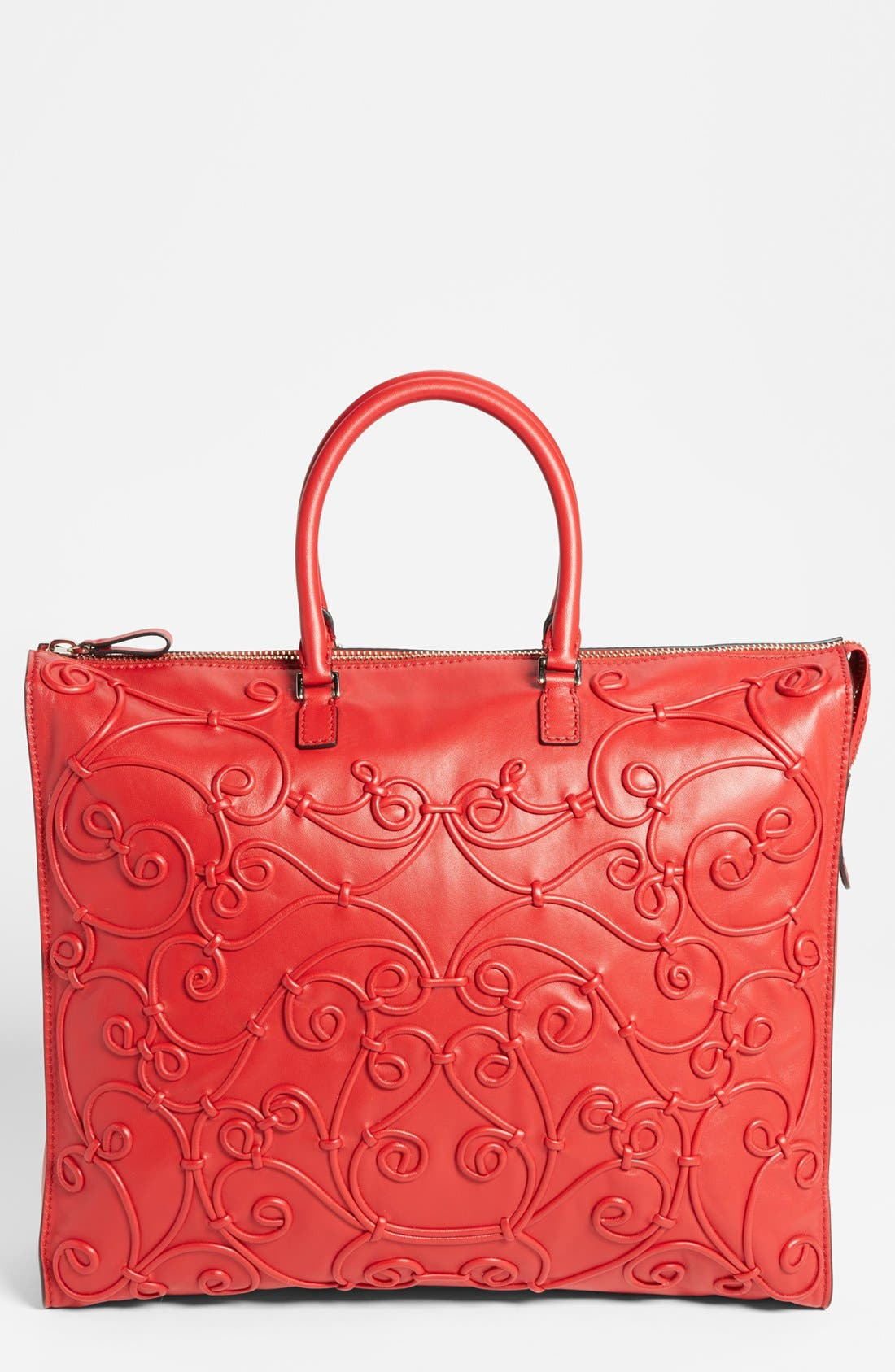 Alternate Image 1 Selected - Valentino 'Intrigate' Double Handle Leather Tote