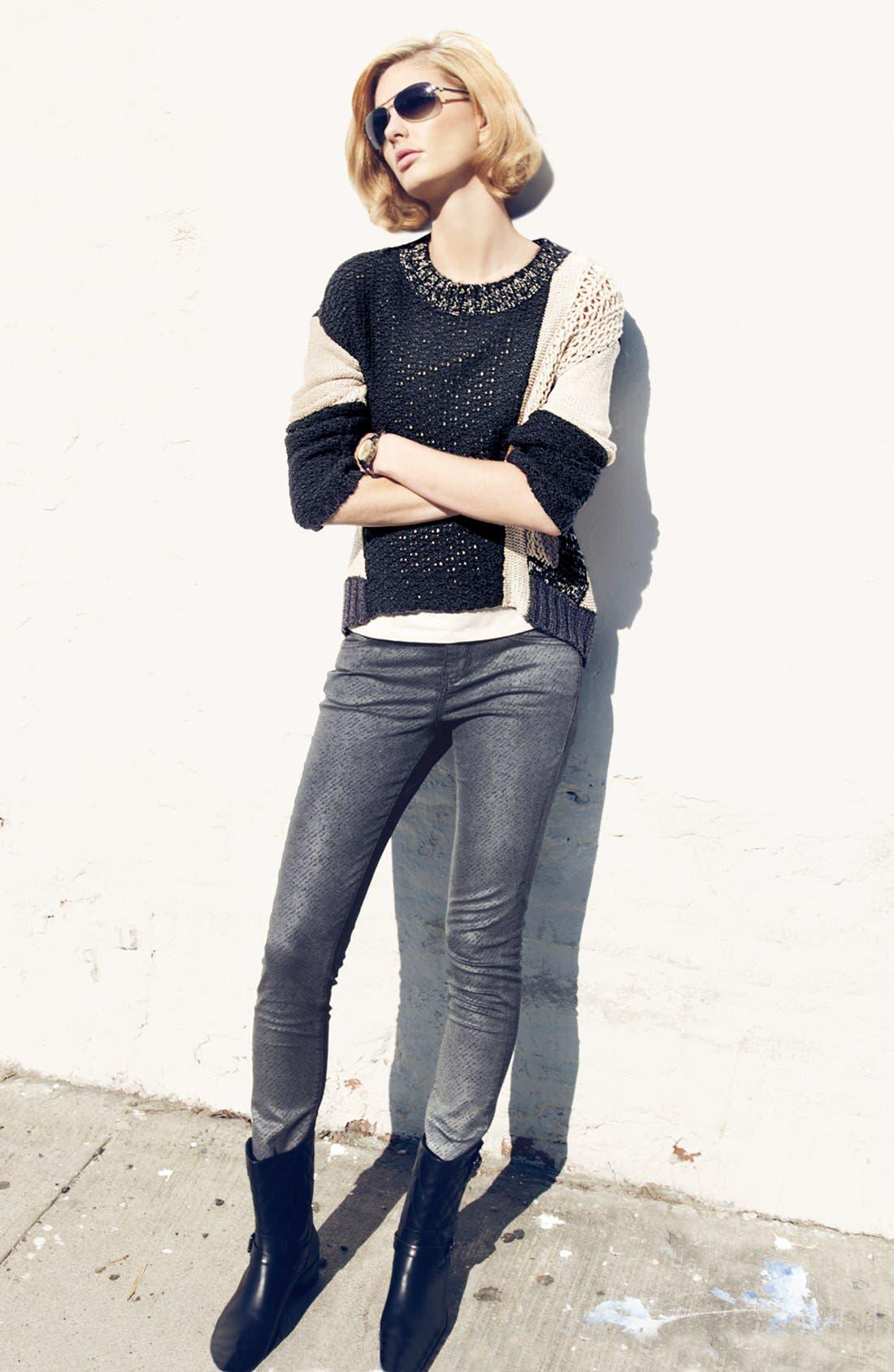 Alternate Image 5  - Jag Jeans 'Miranda' Metallic Coated Print Skinny Jeans (Regular & Petite)