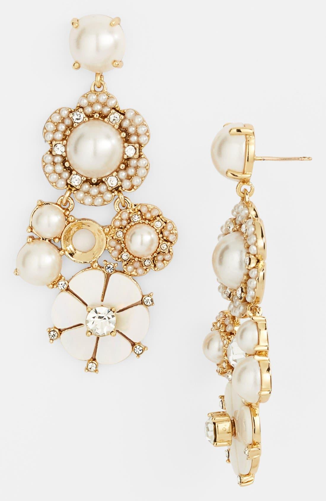 Alternate Image 1 Selected - kate spade new york 'park floral' chandelier earrings