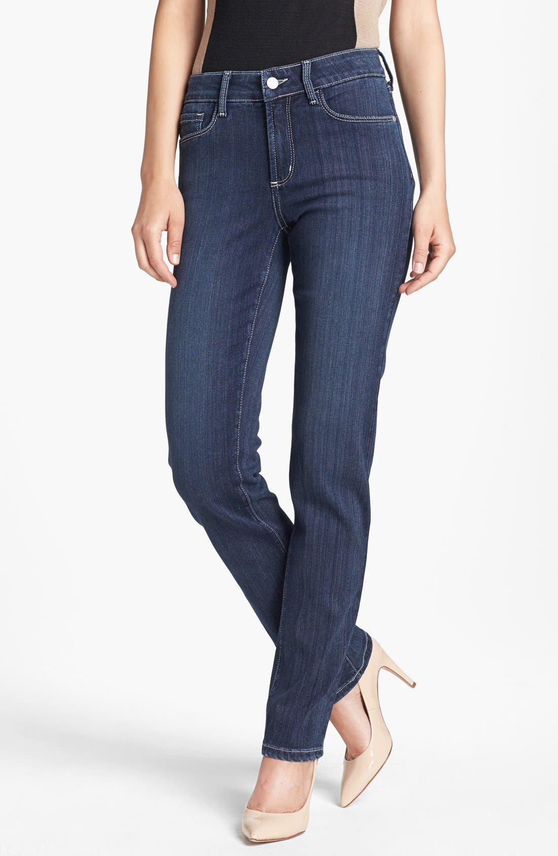 Alternate Image 1 Selected - NYDJ 'Sheri' Stretch Skinny Jeans (Regular & Petite)