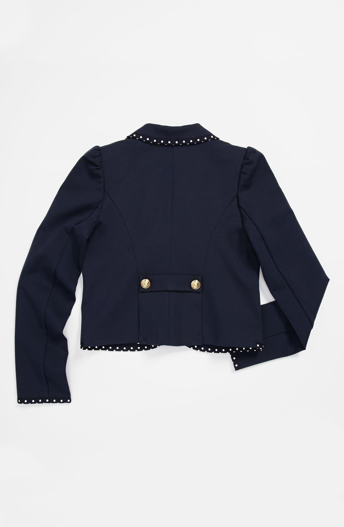 Alternate Image 2  - Juicy Couture Ponte Jacket (Big Girls)