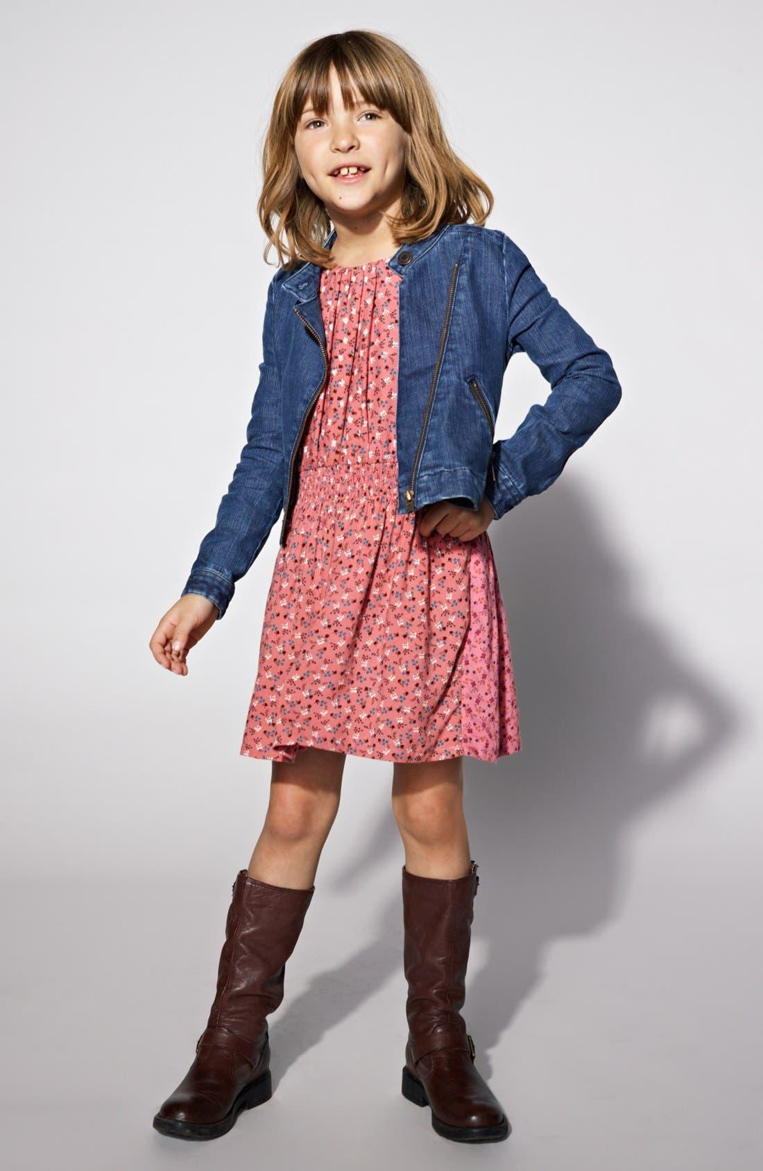 Alternate Image 2  - Tucker + Tate Denim Moto Jacket (Big Girls)