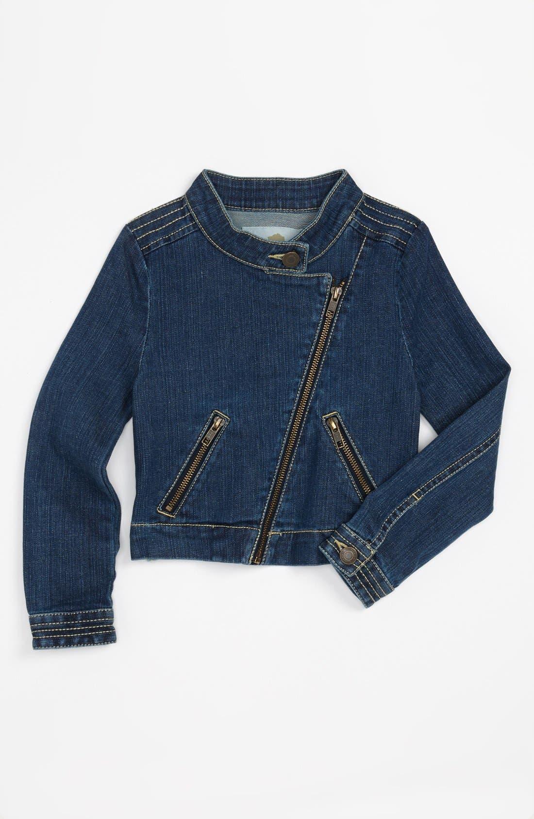 Alternate Image 1 Selected - Tucker + Tate Denim Moto Jacket (Big Girls)